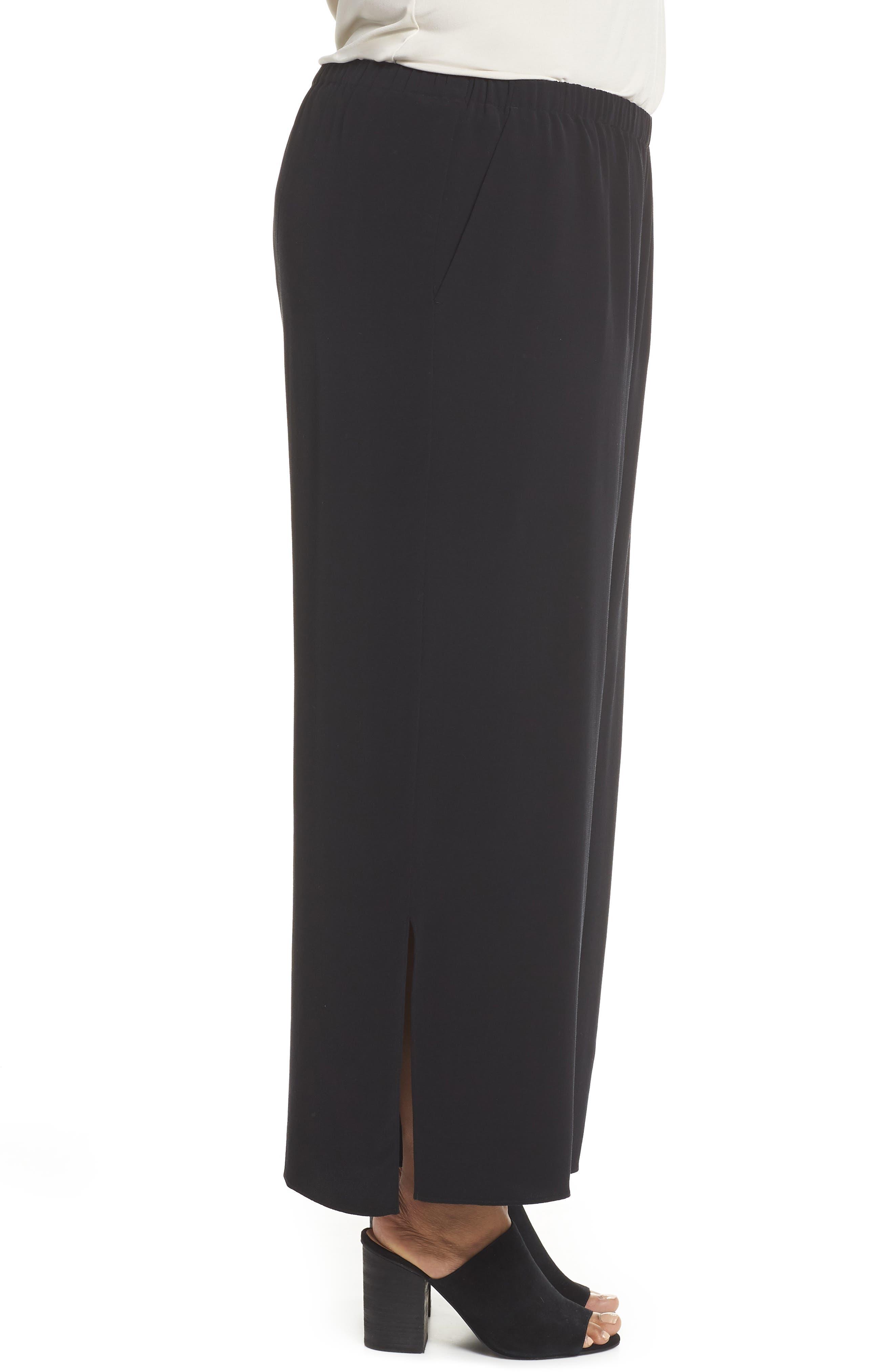 Wide Leg Ankle Pants,                             Alternate thumbnail 3, color,                             001
