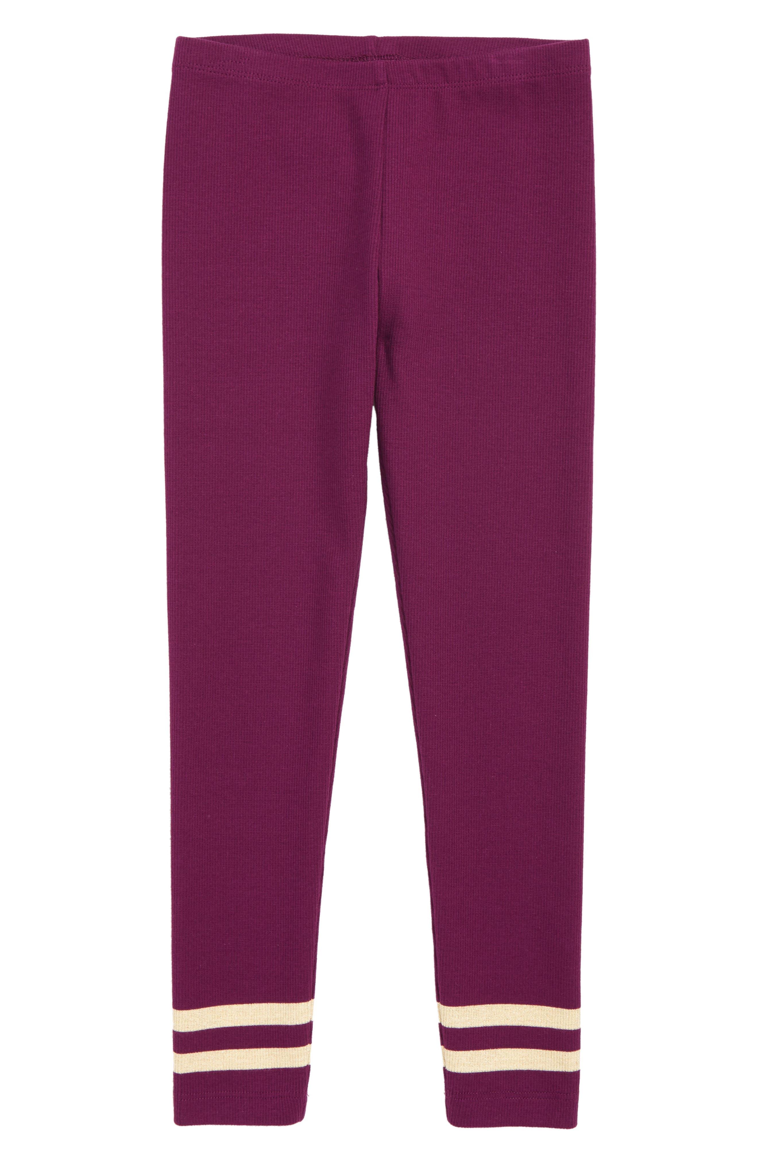 Girls Tea Collection Sparkle Stripe Leggings Size 8  Pink