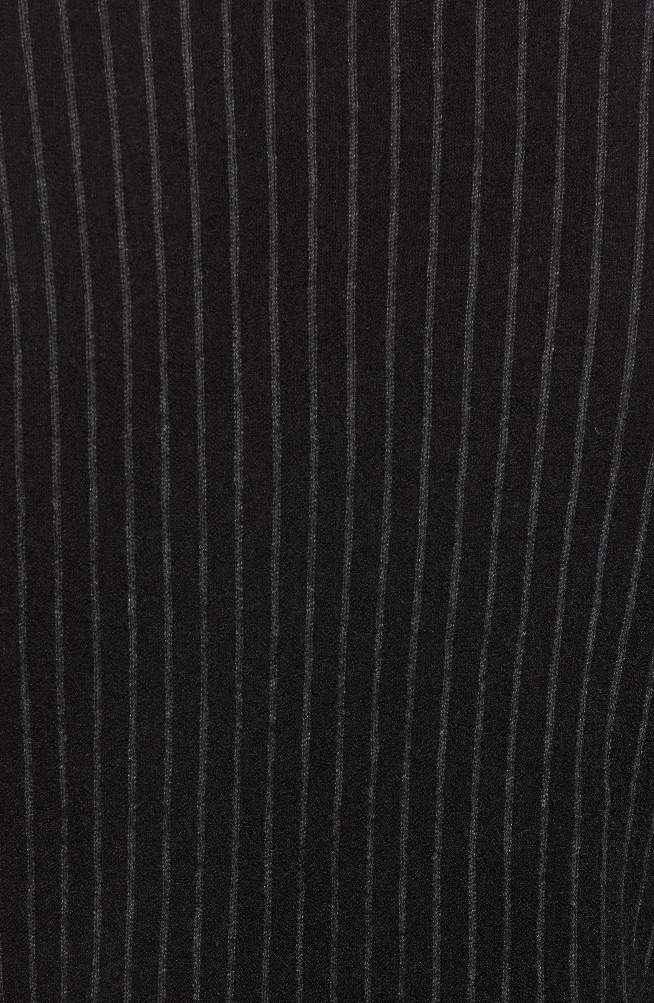 Boiled Wool Blend Crewneck Sweater,                             Alternate thumbnail 5, color,                             MULTI STRIPE