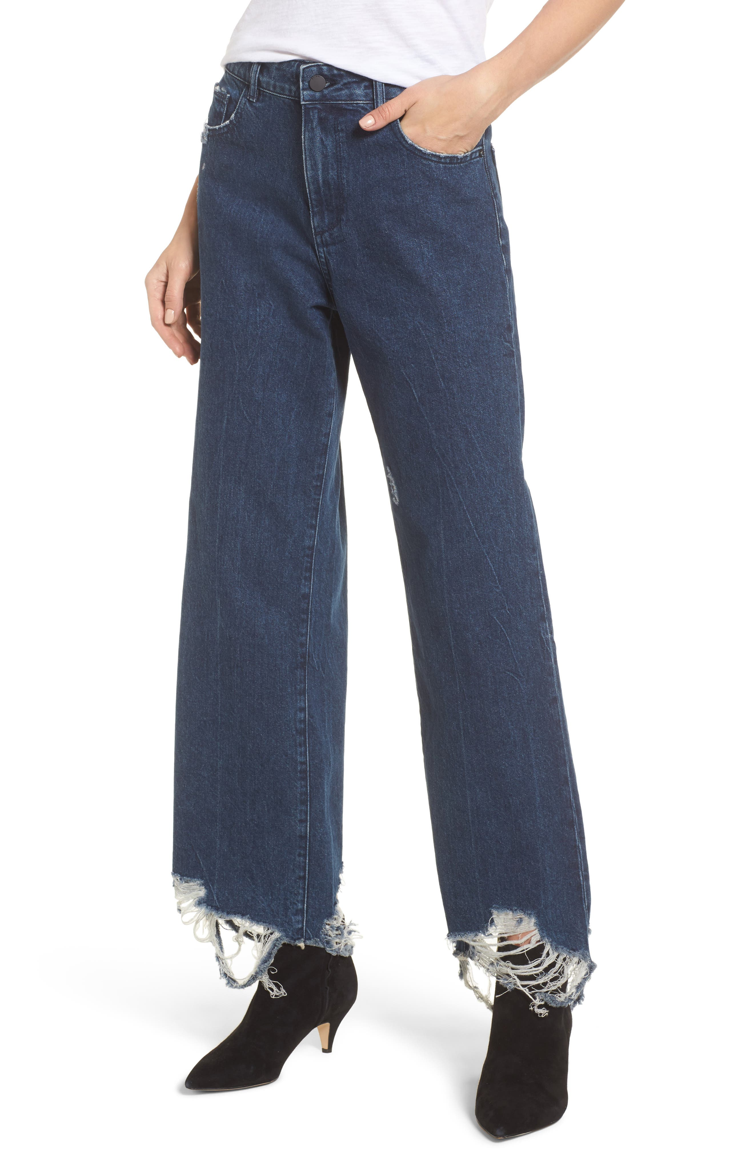 Hepburn High Waist Wide Leg Jeans,                         Main,                         color,