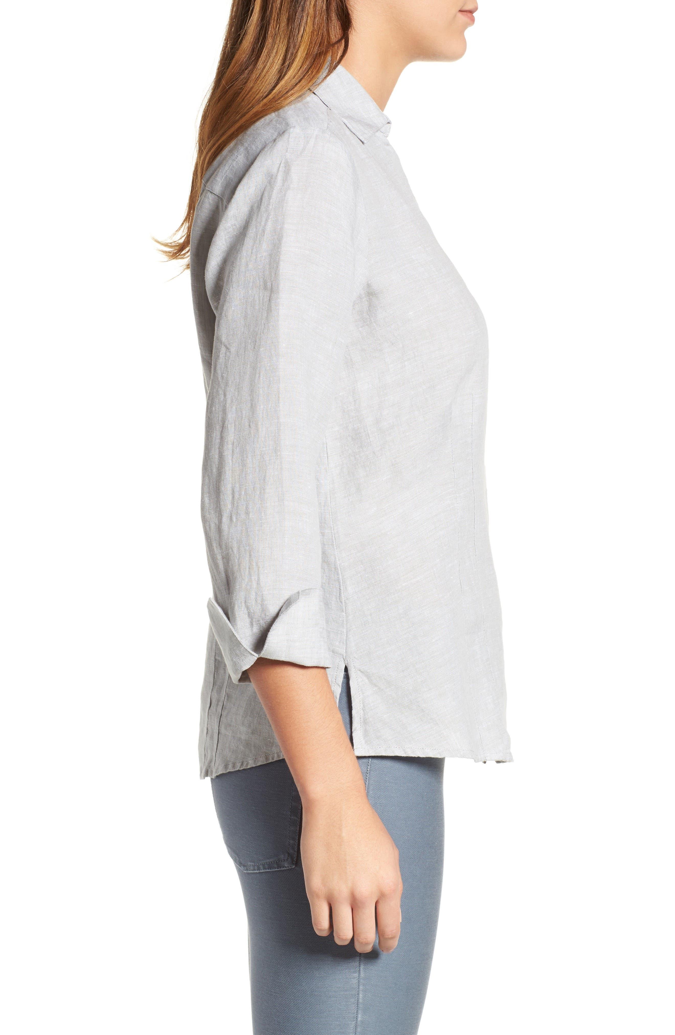Linen Chambray Shirt,                             Alternate thumbnail 16, color,