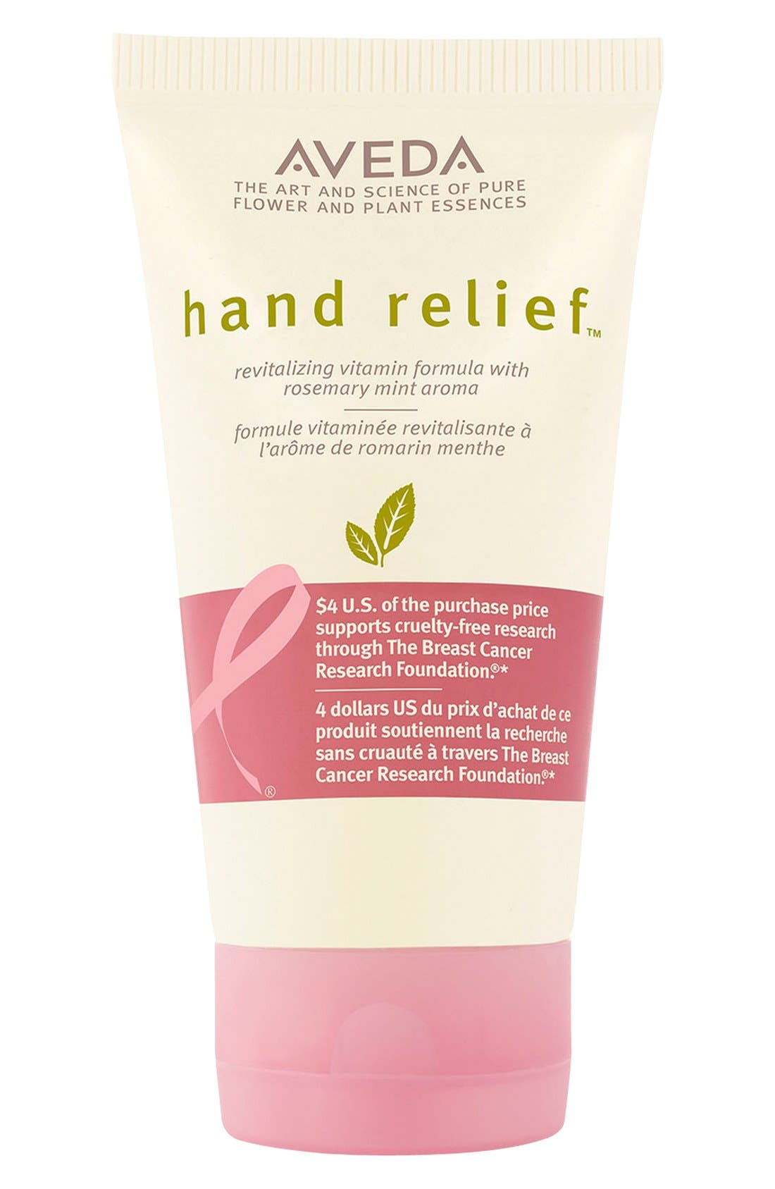 'hand relief<sup>™</sup> - Breast Cancer Research Foundation' Moisturizer,                             Main thumbnail 1, color,                             000