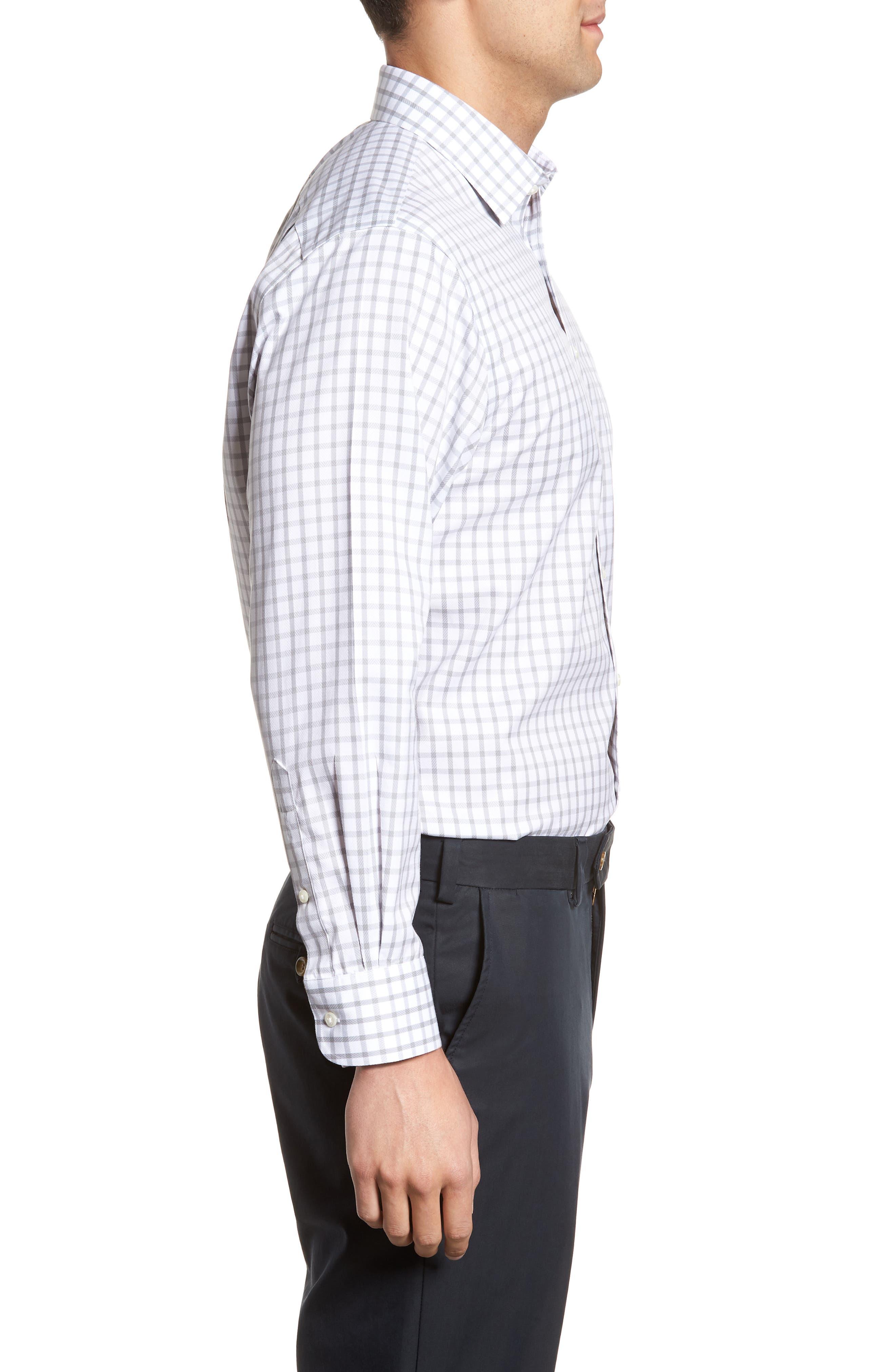 Smartcare<sup>™</sup> Traditional Fit Check Dress Shirt,                             Alternate thumbnail 4, color,                             050