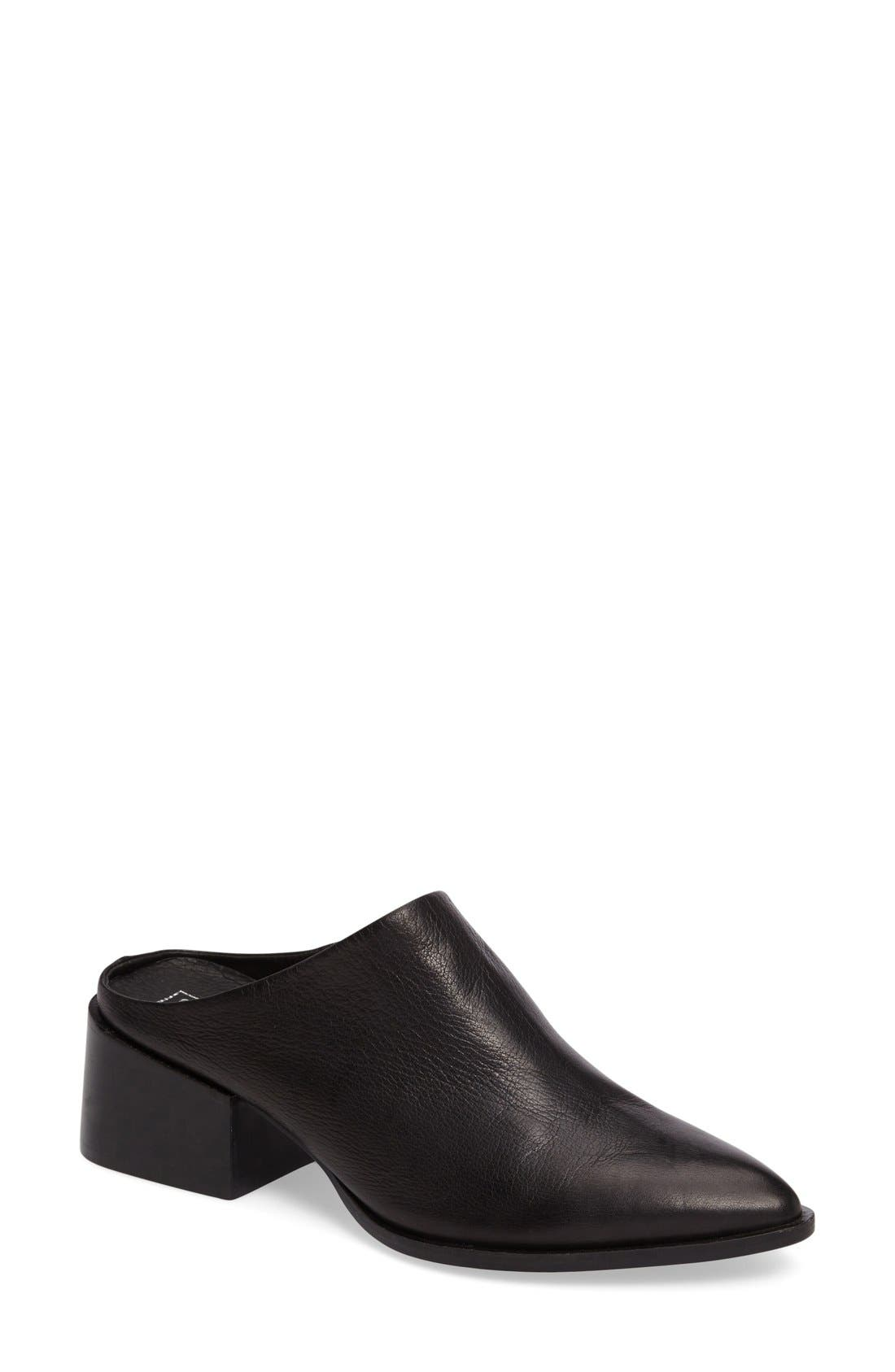 Camille Pointy Toe Mule,                             Main thumbnail 1, color,                             001