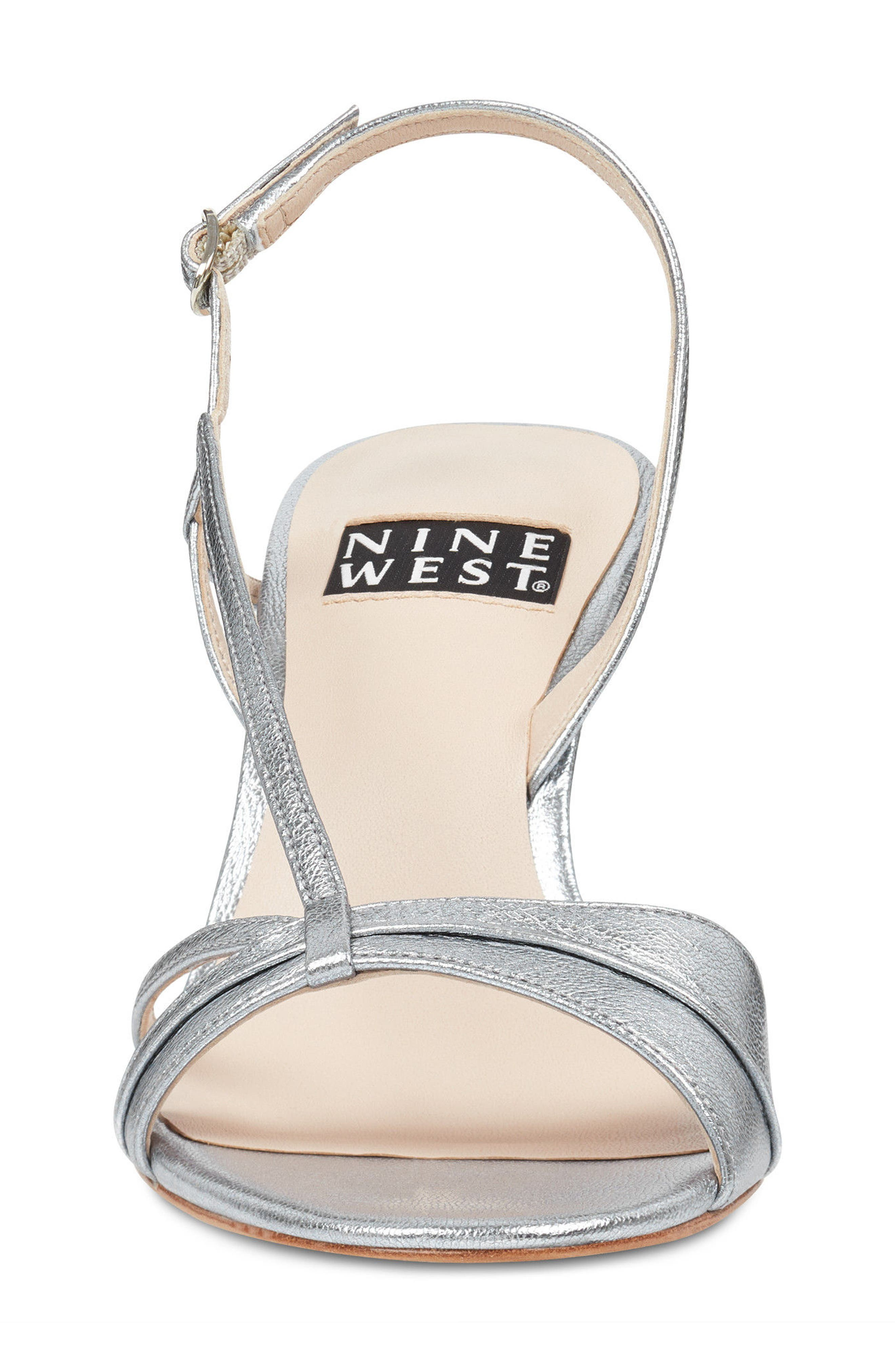 Accolia - 40th Anniversary Capsule Collection Sandal,                             Alternate thumbnail 4, color,                             SILVER LEATHER