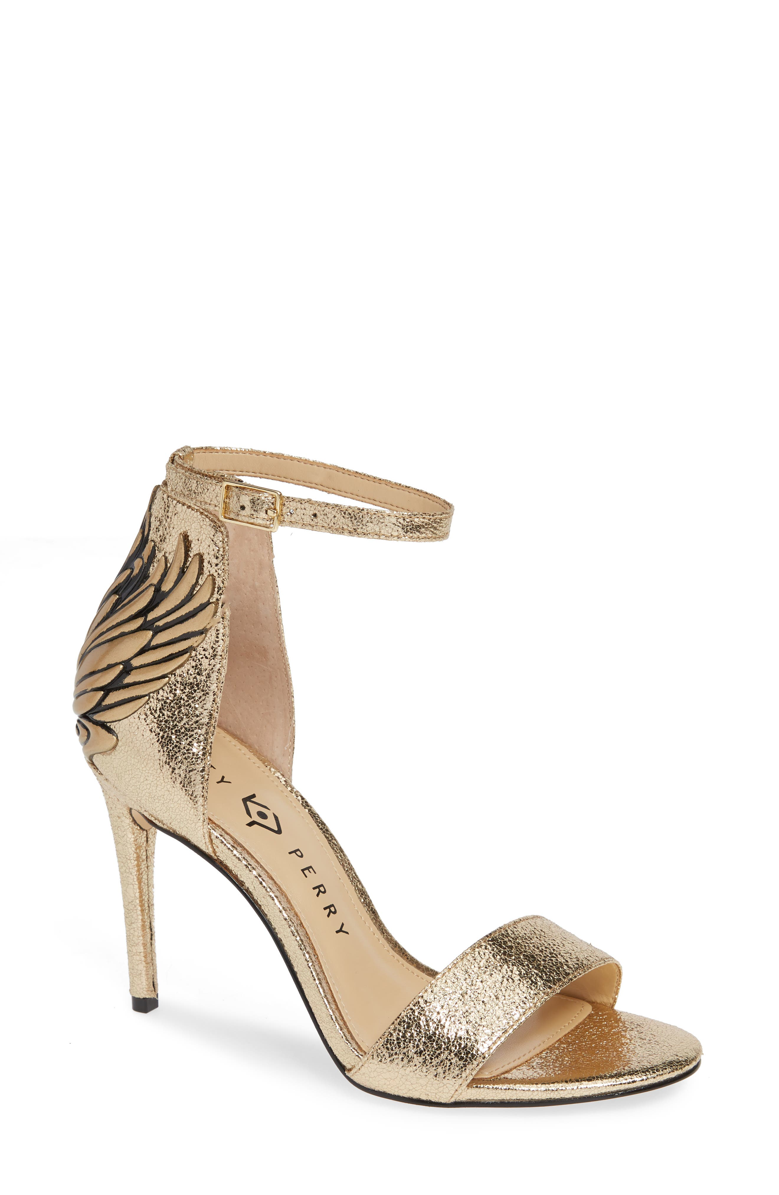 Katy Perry Ankle Strap Sandal, Metallic