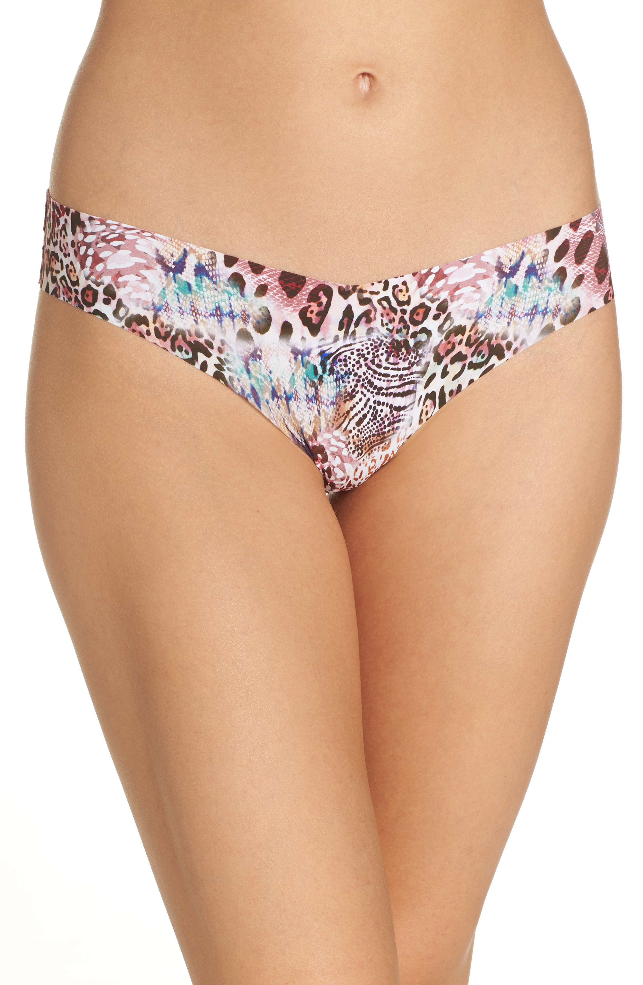 Print Microfiber Thong,                             Main thumbnail 19, color,