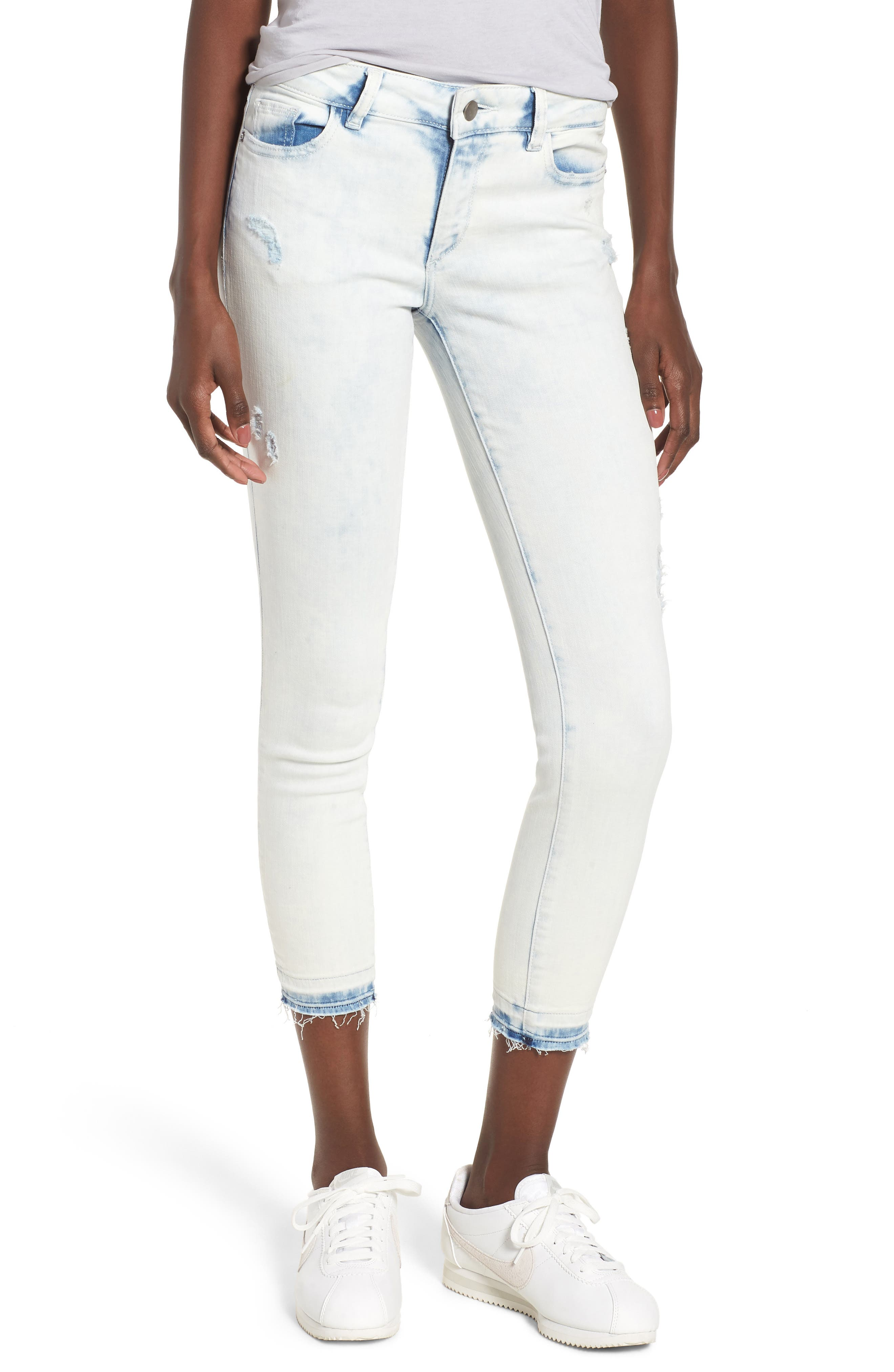 Florence Instasculpt Crop Skinny Jeans,                         Main,                         color, MITCHELL