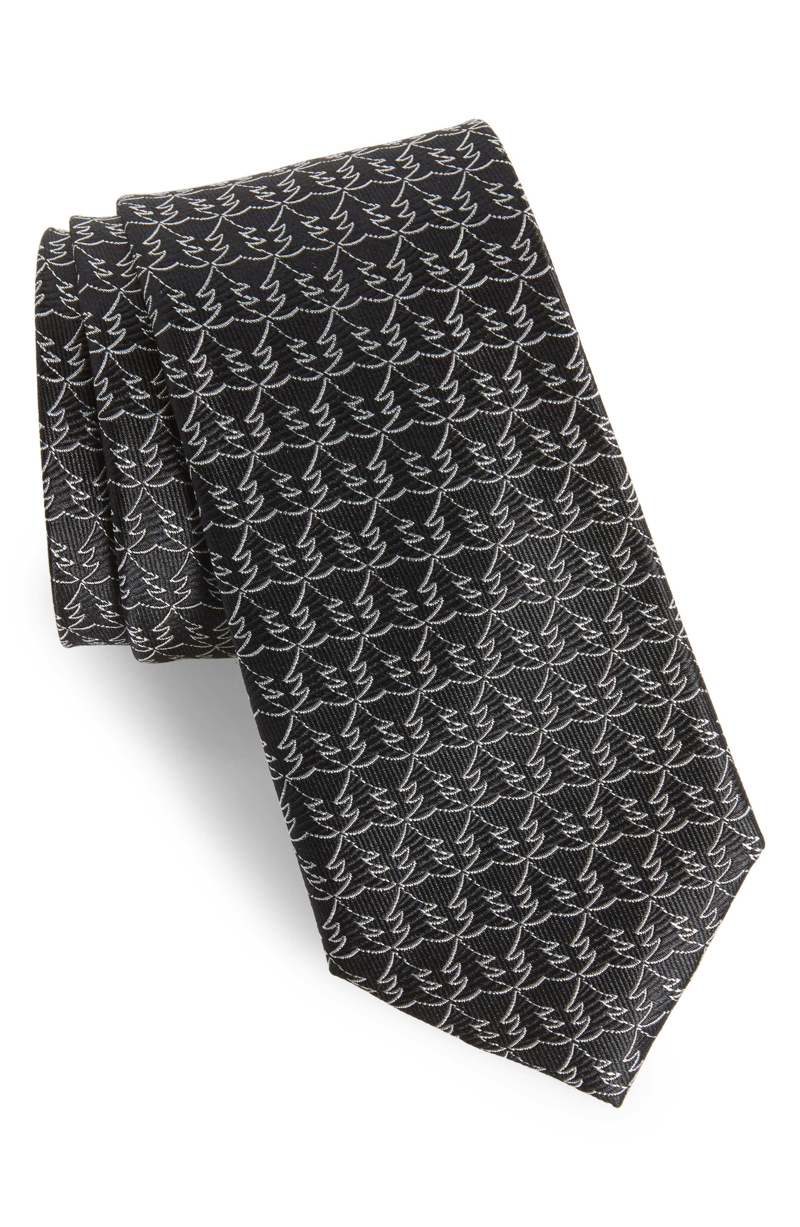 Christmas Tree Silk Tie,                         Main,                         color,