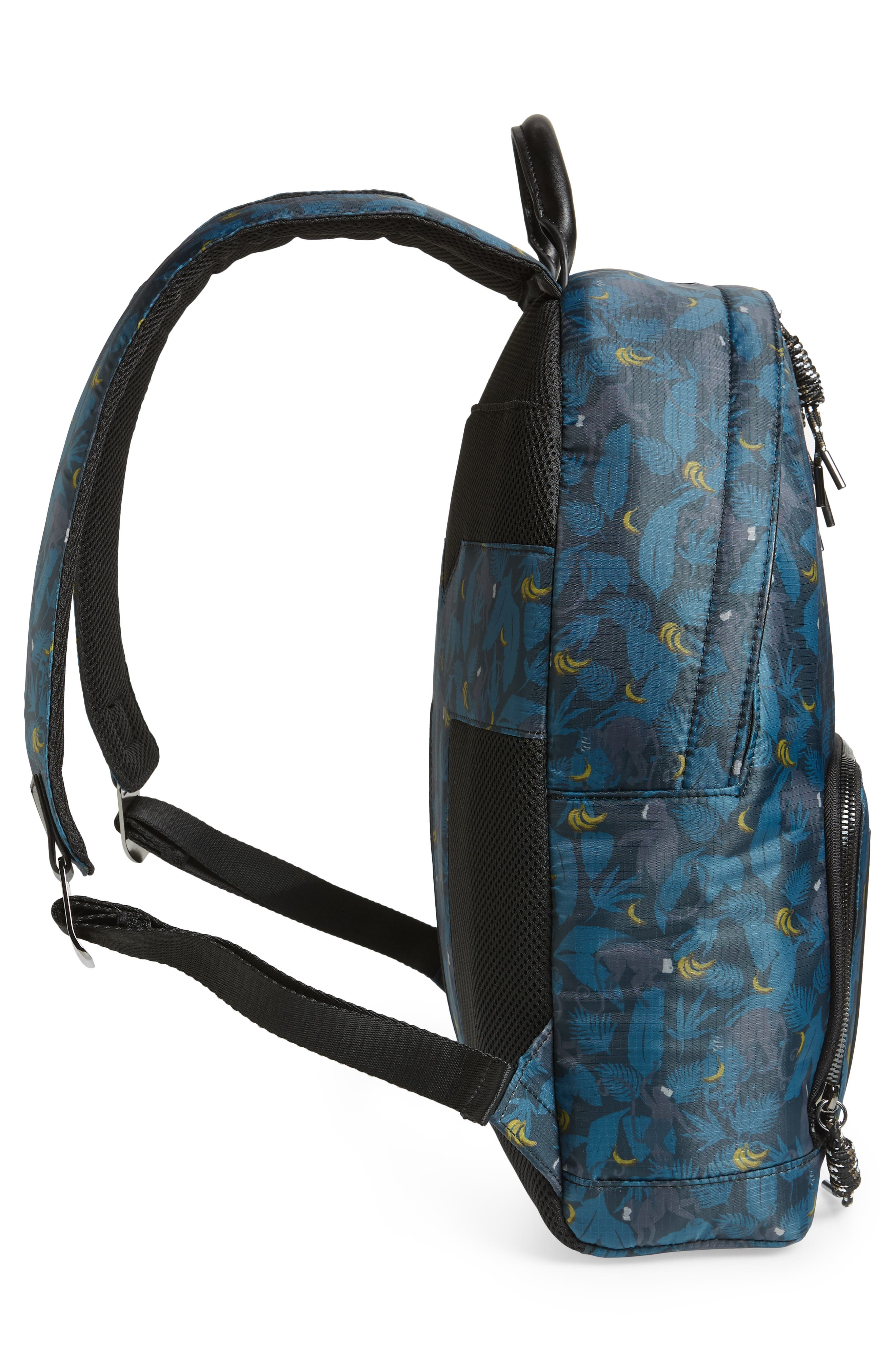 Primate Print Backpack,                             Alternate thumbnail 5, color,                             NAVY