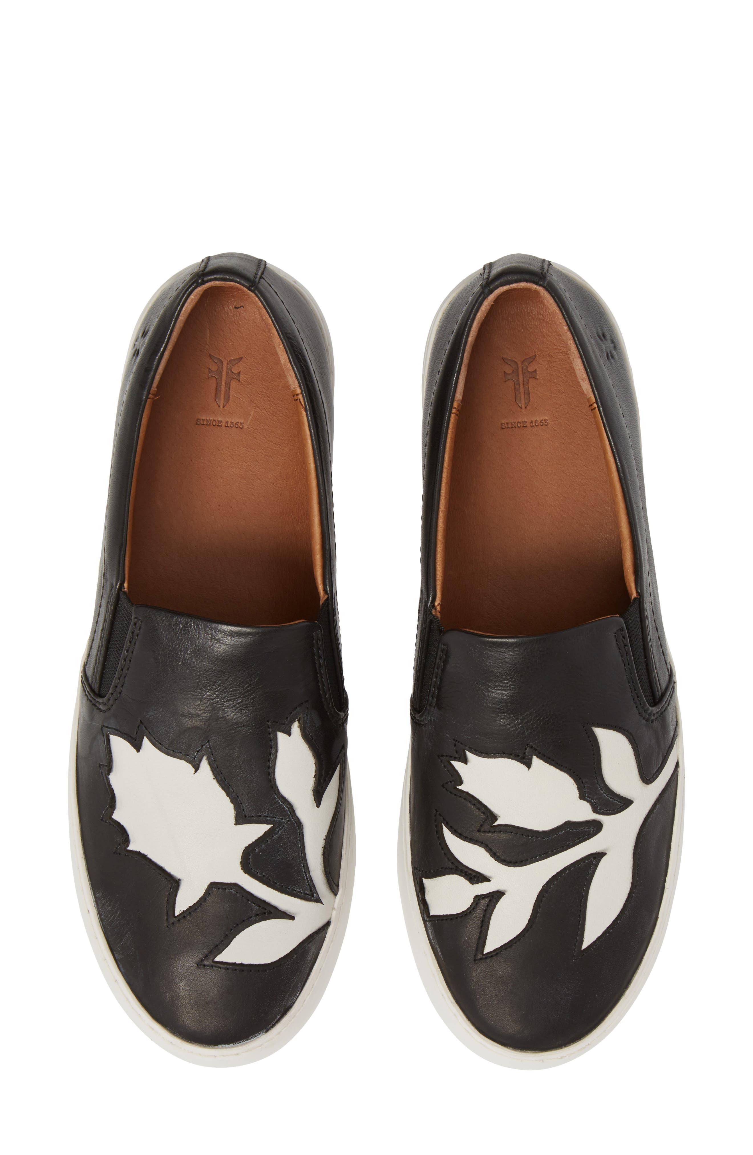 Lena Floral Slip-On Sneaker,                             Main thumbnail 1, color,                             001