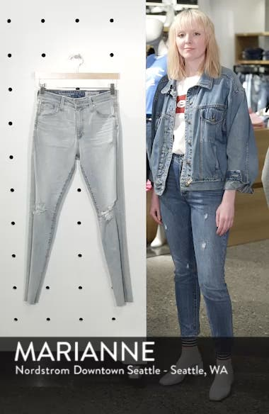 The Farrah High Waist Ankle Skinny Jeans, sales video thumbnail