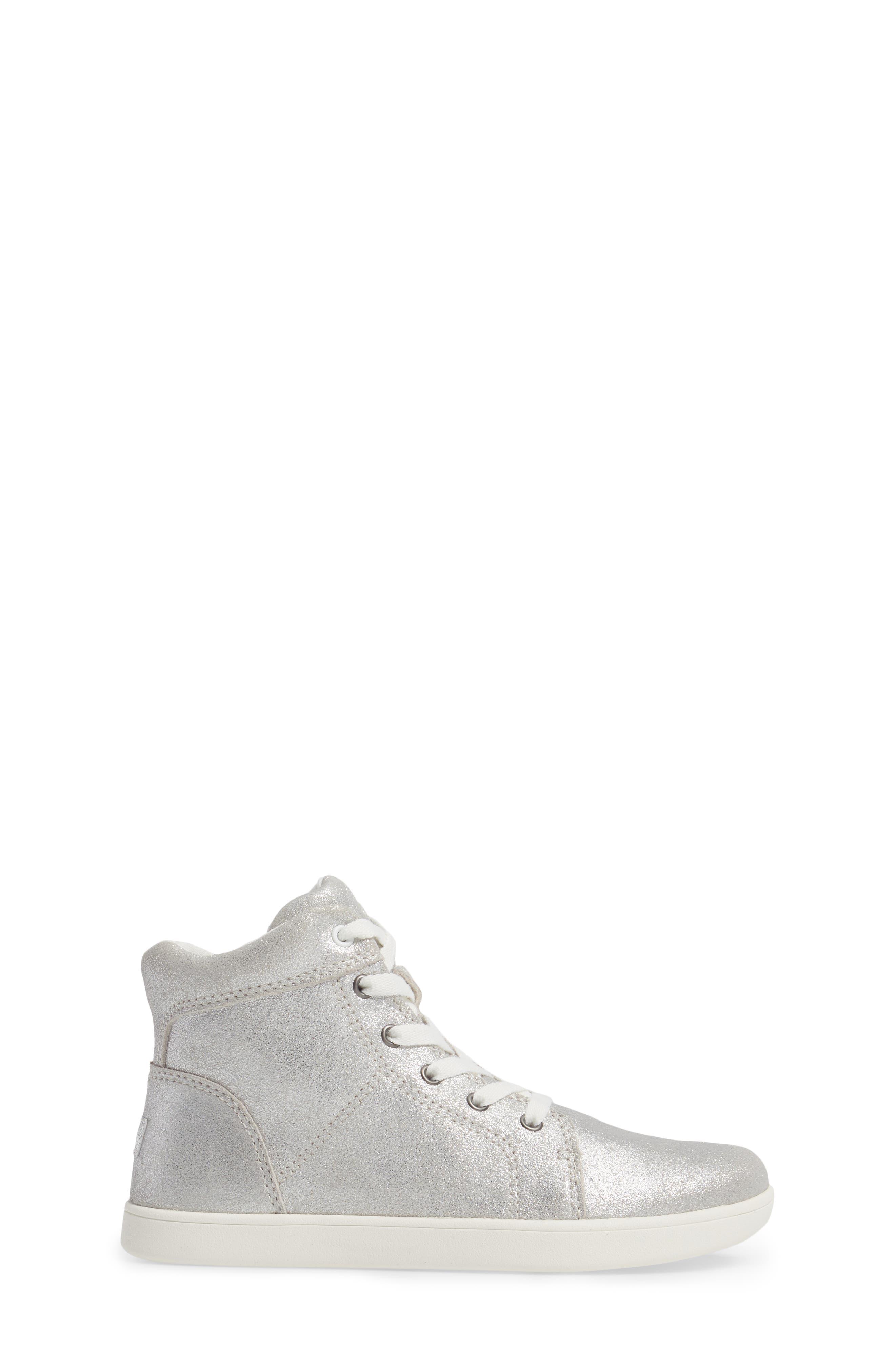 Schyler Metallic High Top Sneaker,                             Alternate thumbnail 3, color,                             040