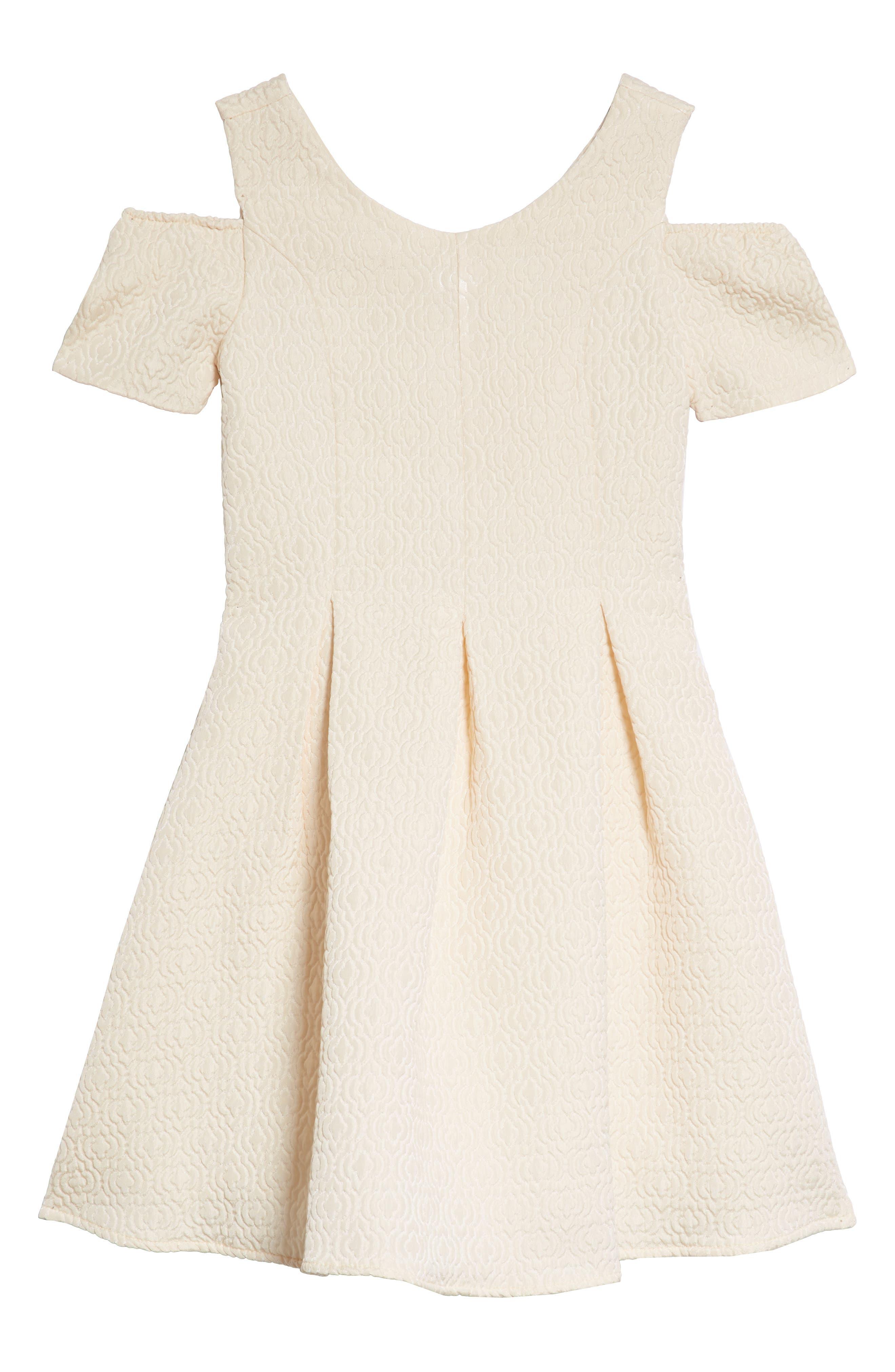 Cold Shoulder Fit & Flare Dress,                             Main thumbnail 2, color,