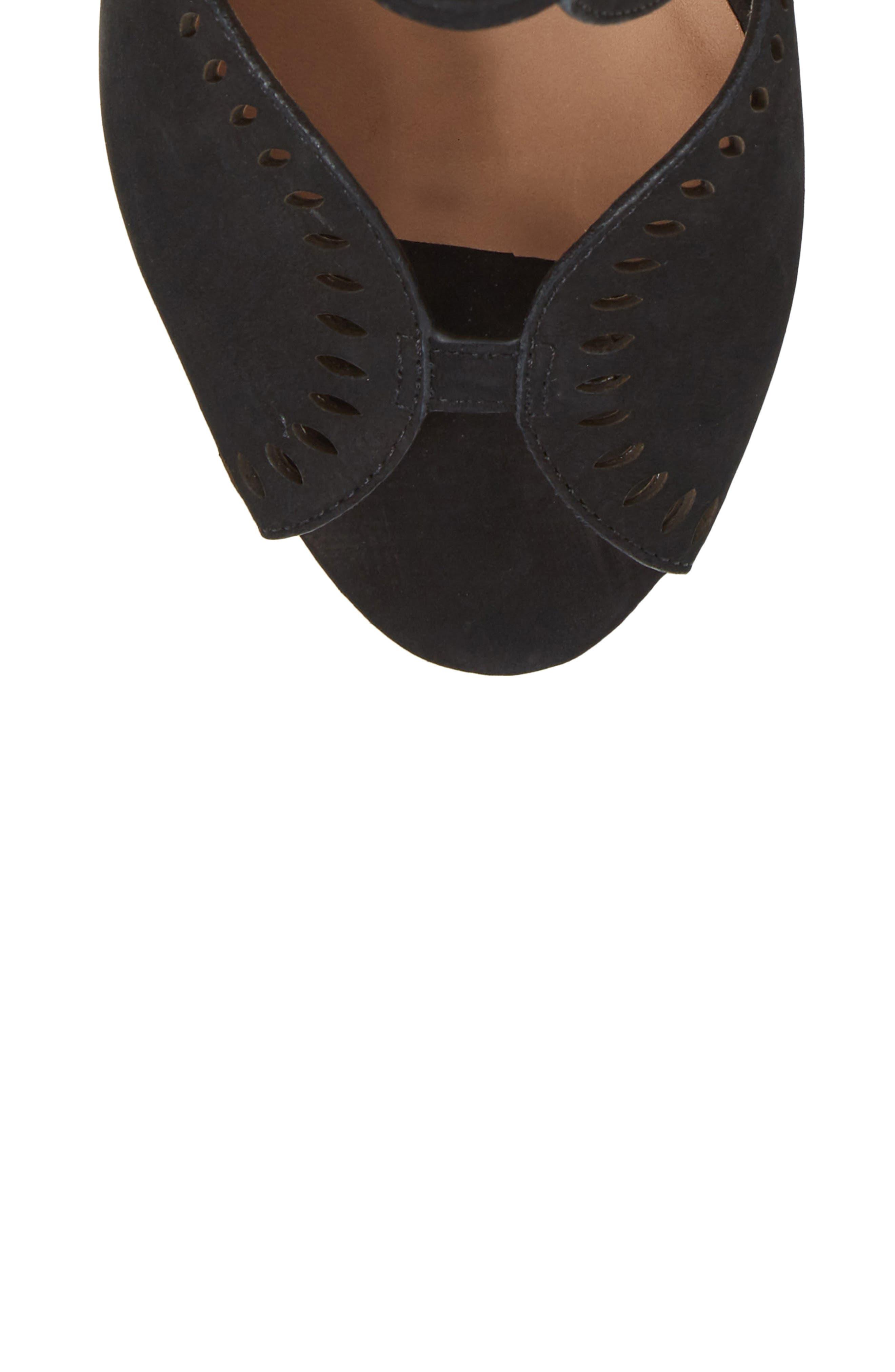 Mallia Perforated Sandal,                             Alternate thumbnail 5, color,                             001