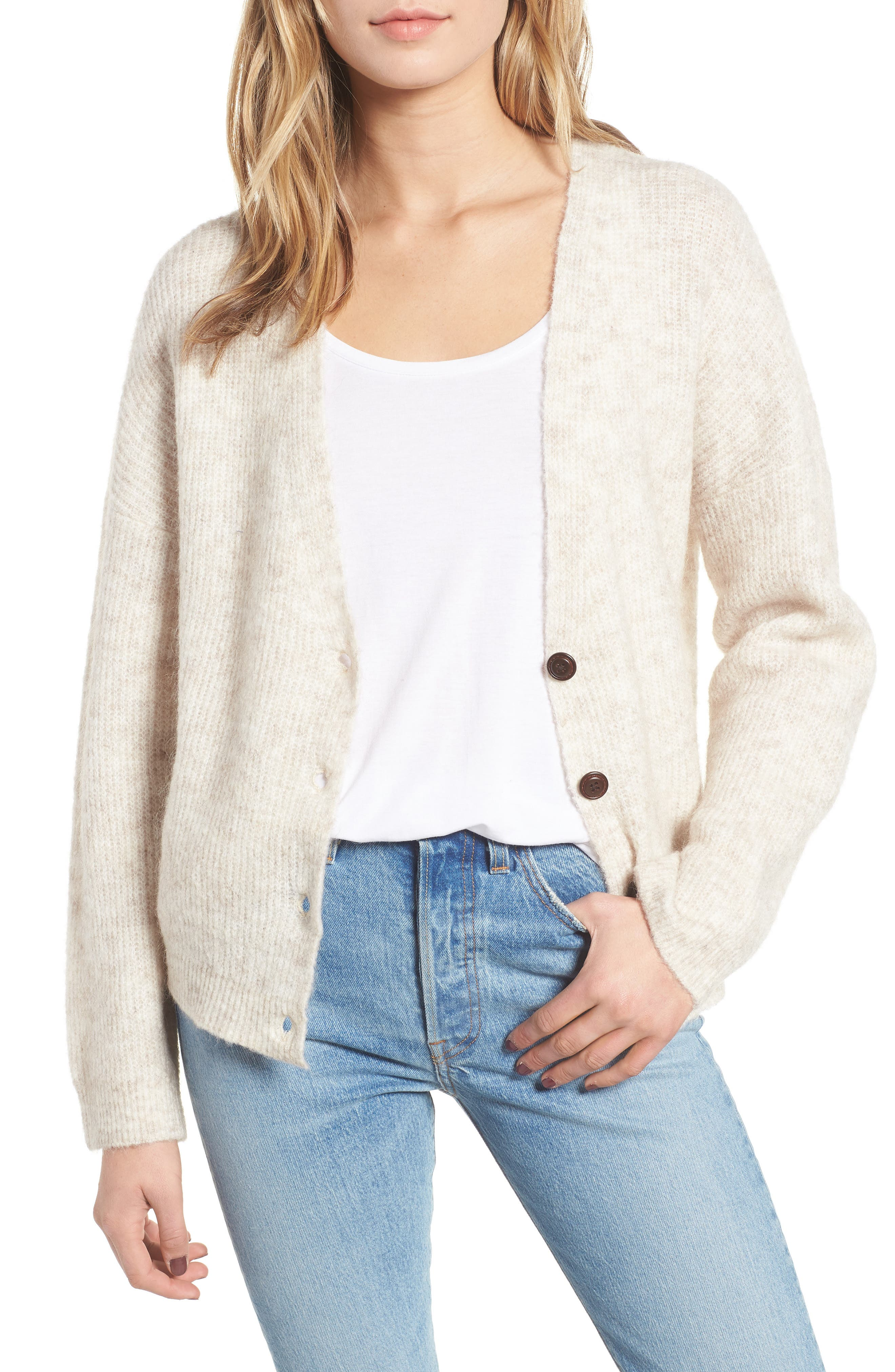 OBEY Ronnie Cardigan in Ivory