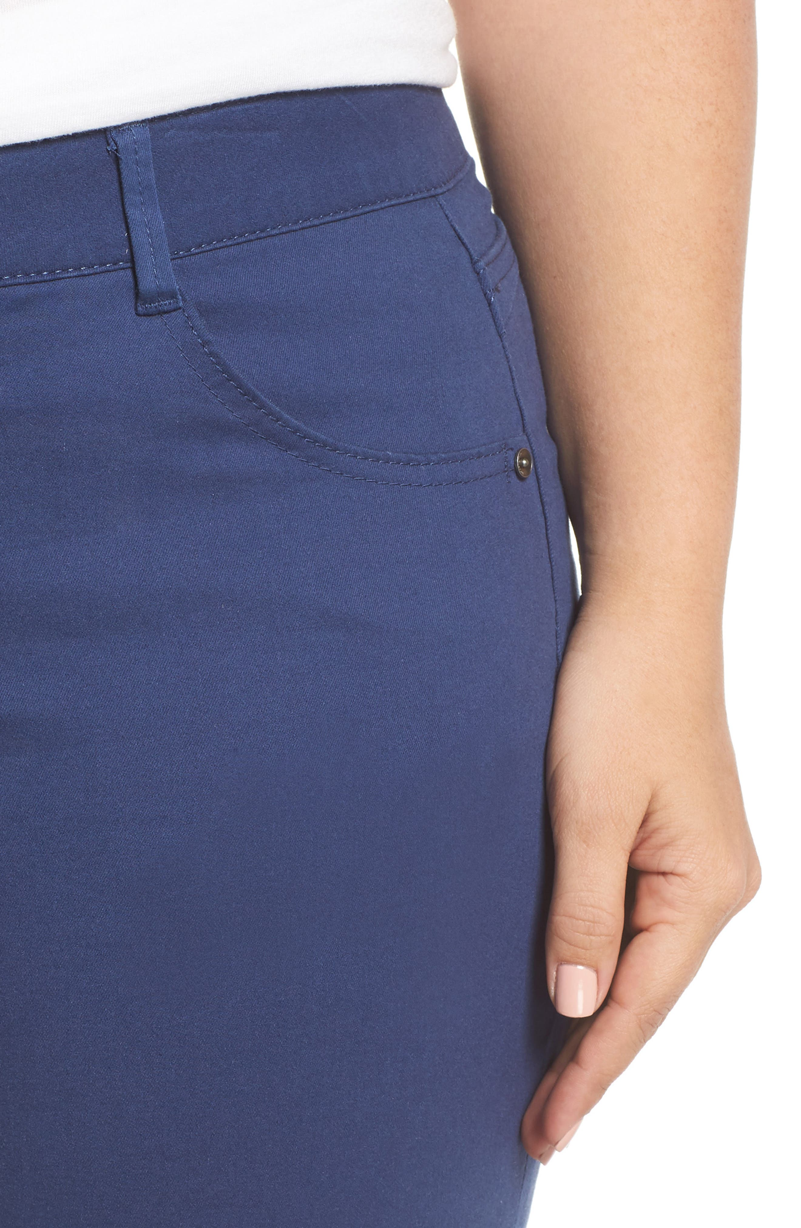 Ab-Solution Stretch Cotton Shorts,                             Alternate thumbnail 4, color,                             COASTAL BLUE