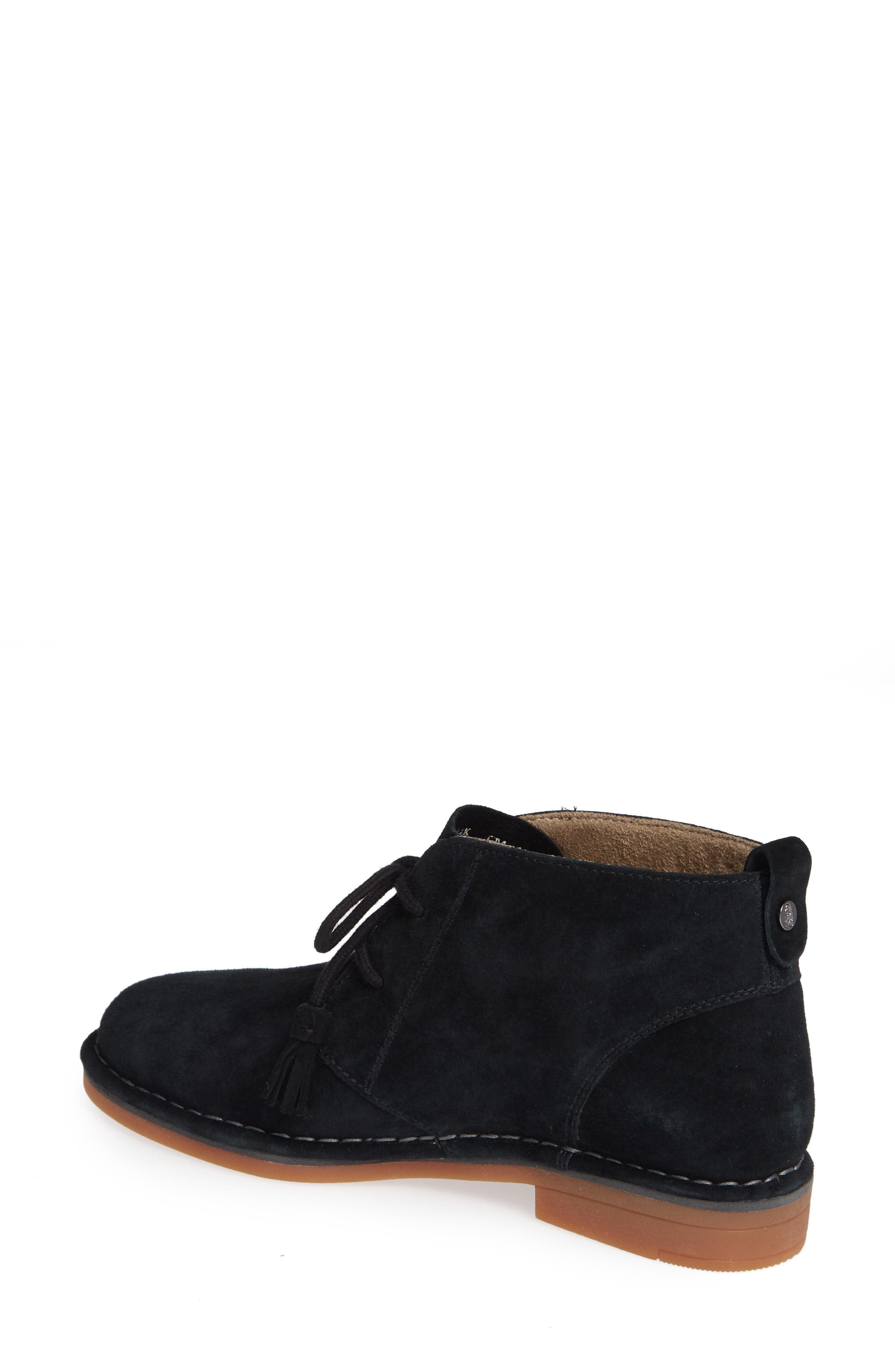 HUSH PUPPIES<SUP>®</SUP>,                             Cyra Catelyn Chukka Bootie,                             Alternate thumbnail 2, color,                             BLACK SUEDE