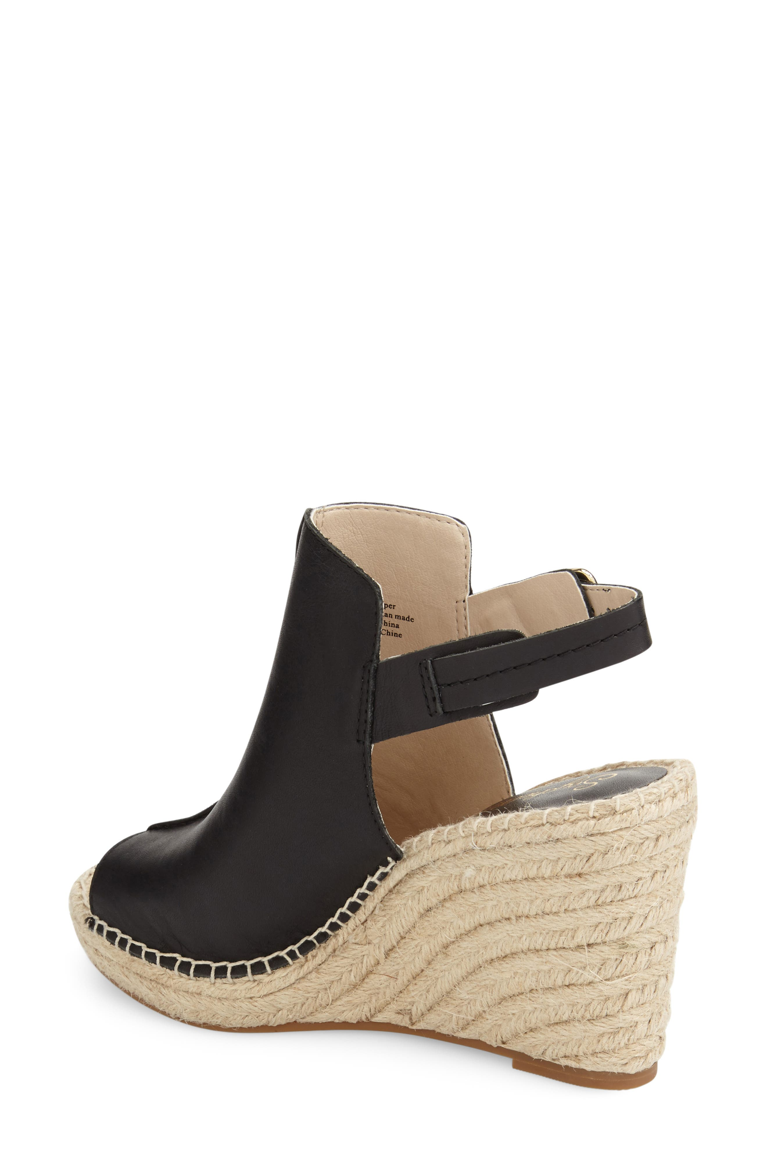 'Charismatic' Espadrille Wedge,                             Alternate thumbnail 5, color,                             001