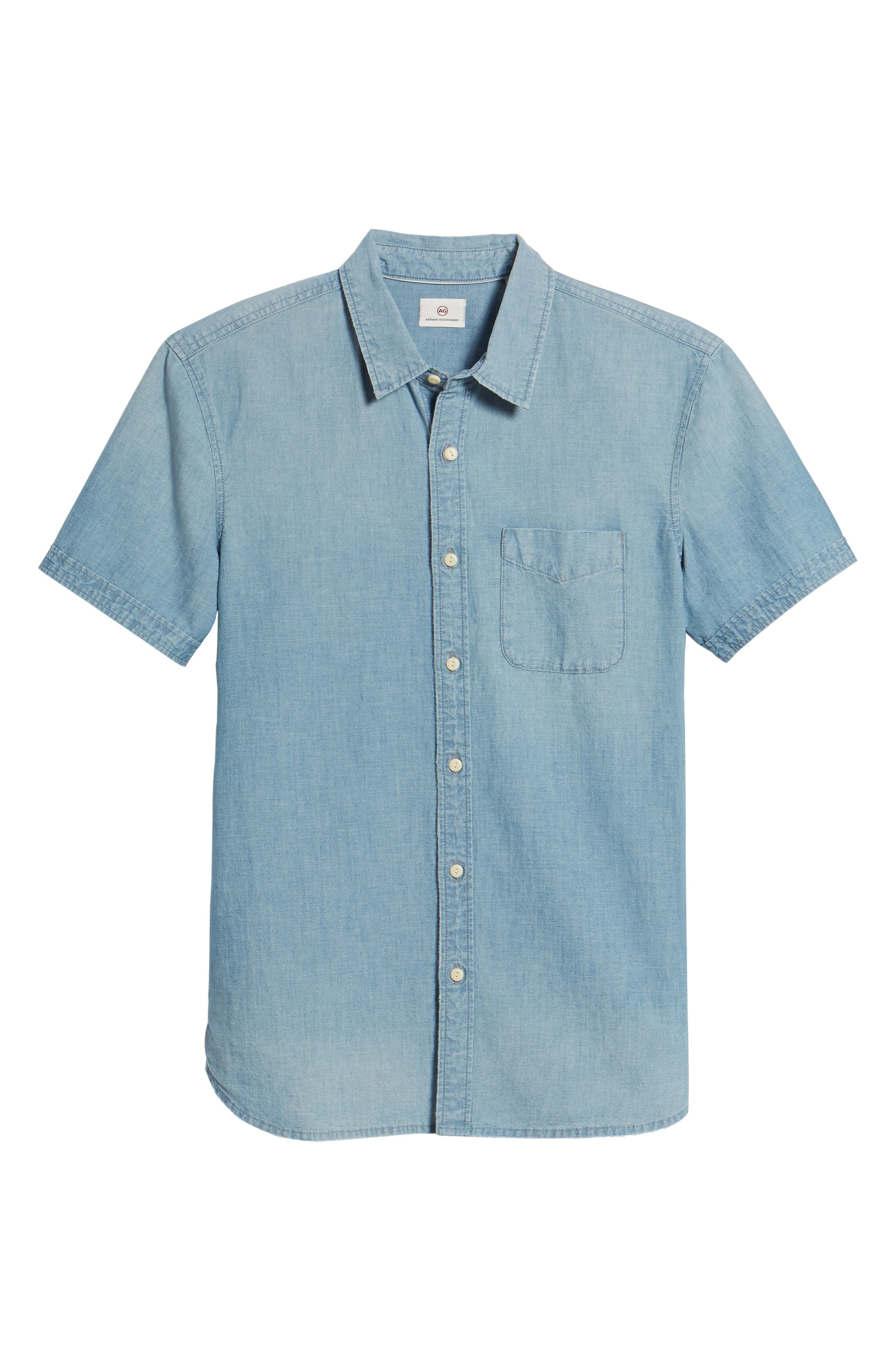 Pearson Regular Fit Short Sleeve Sport Shirt,                             Alternate thumbnail 6, color,                             400