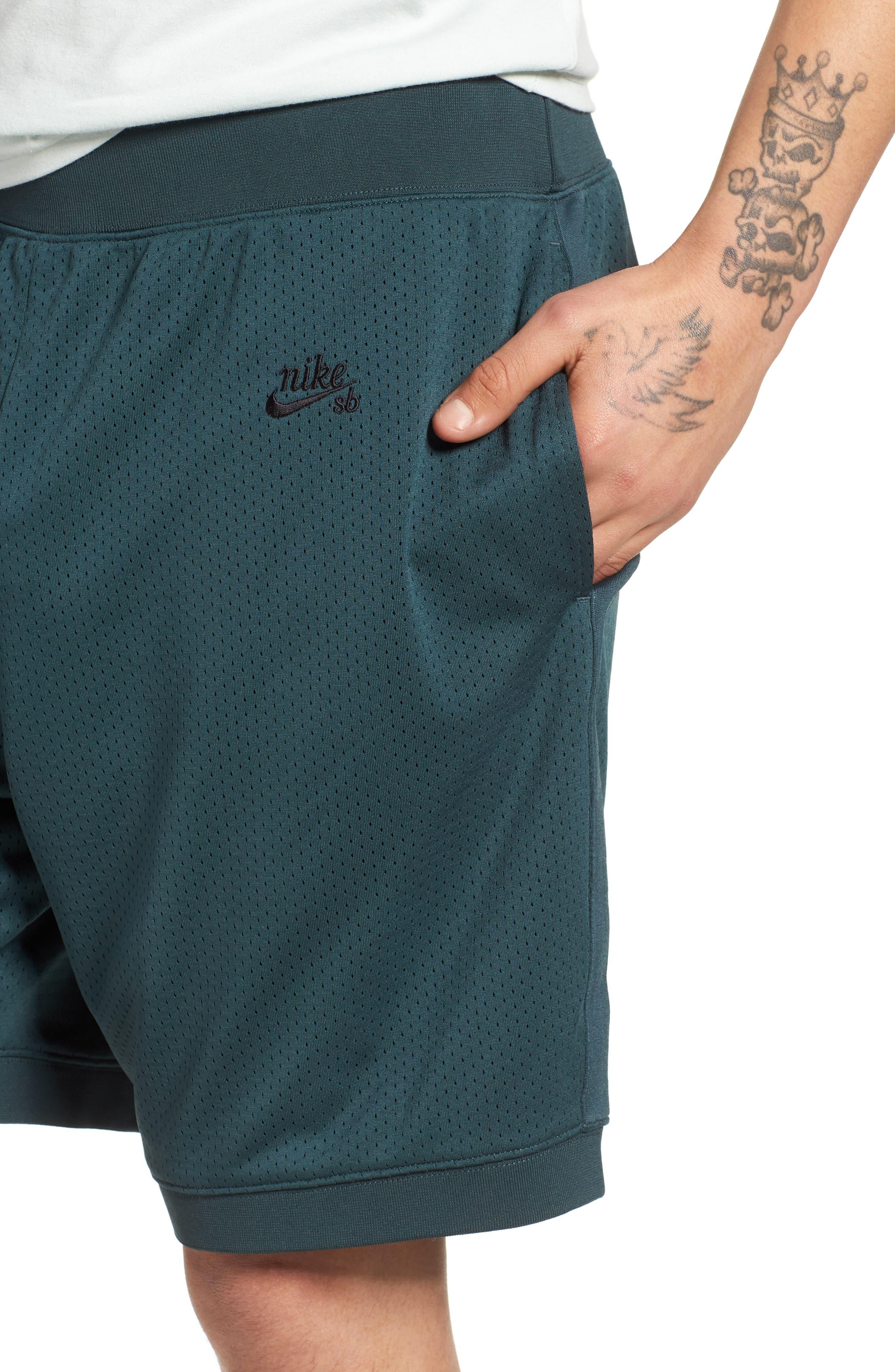 SB Dry Heritage Court Shorts,                             Alternate thumbnail 4, color,                             DEEP JUNGLE/ BLACK