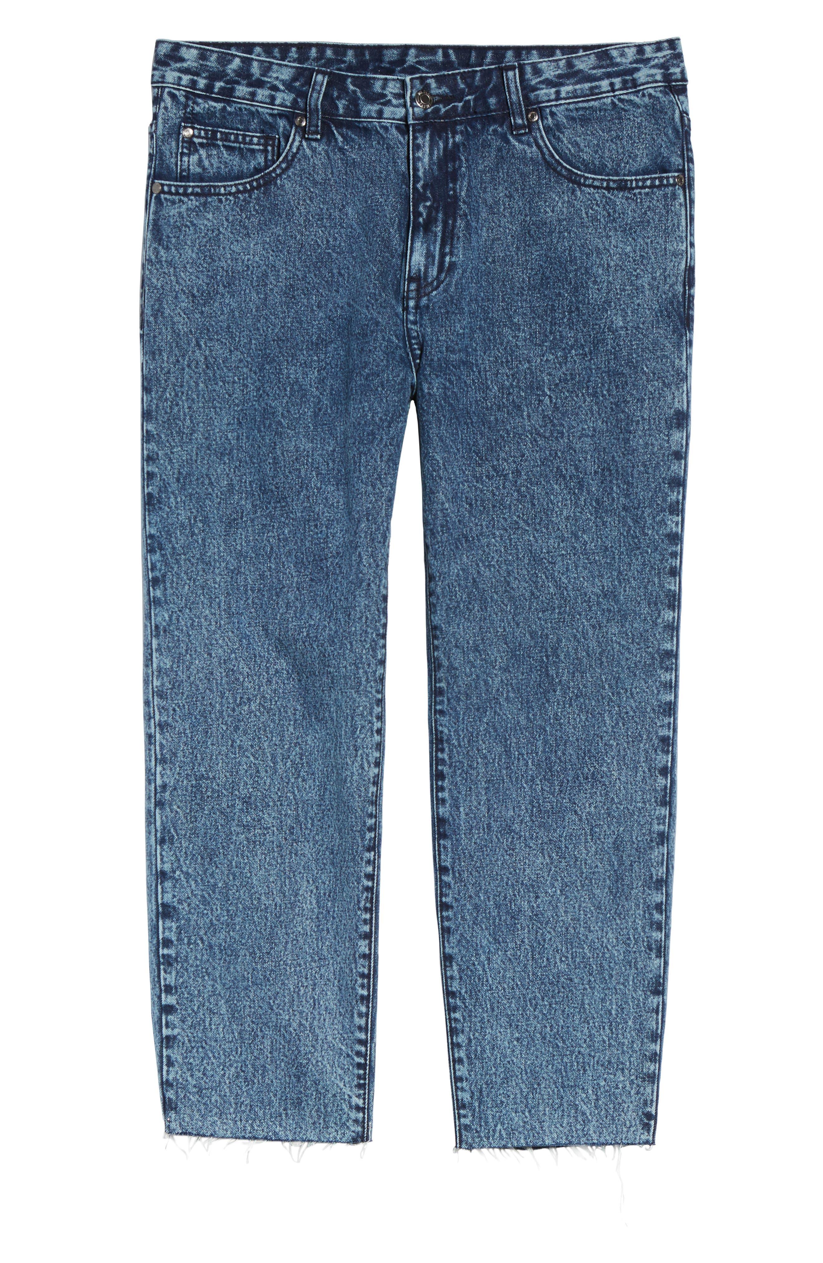 Otis Straight Fit Crop Jeans,                             Alternate thumbnail 6, color,                             400