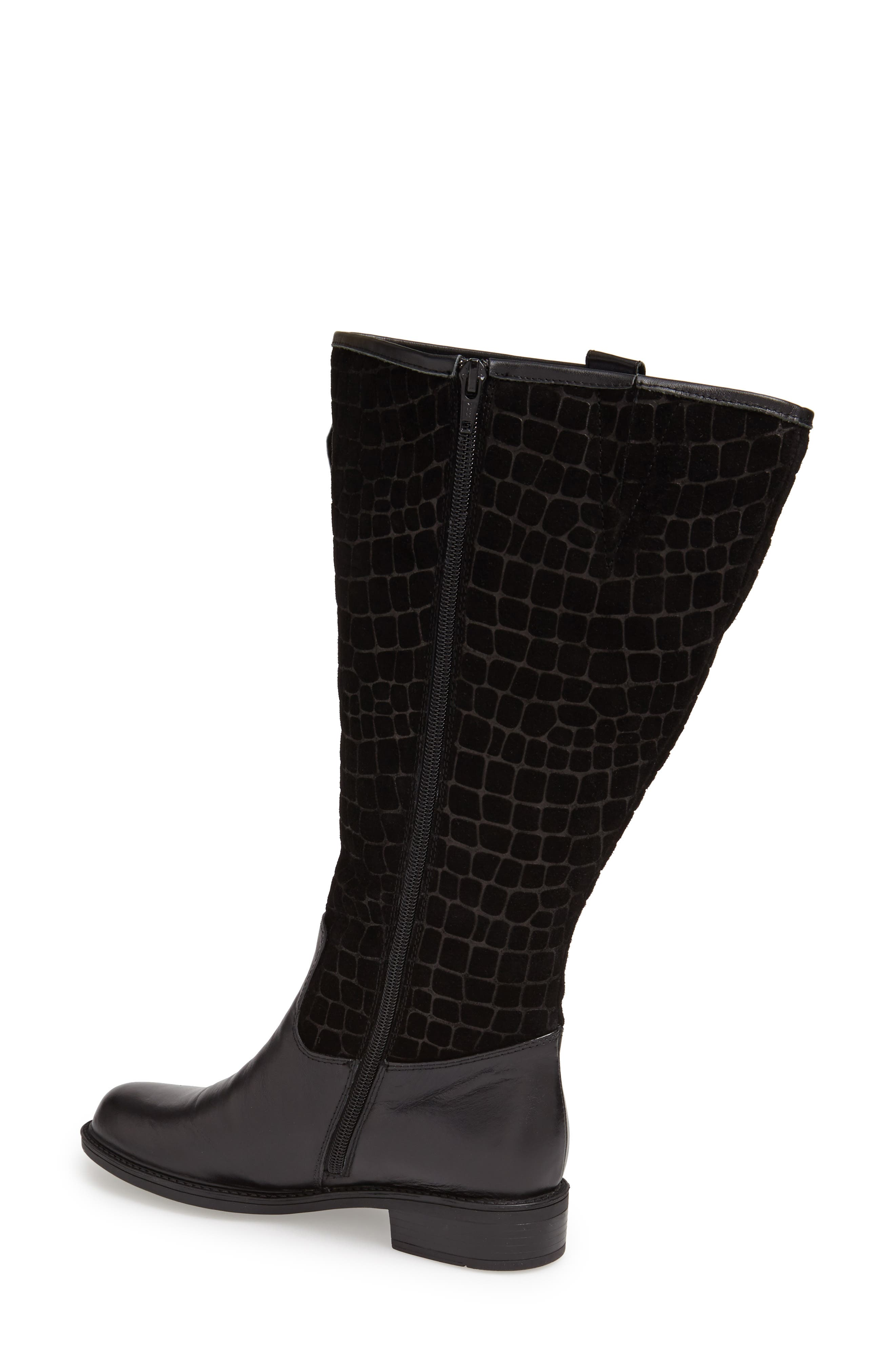 'Best' Calfskin Leather & Suede Boot,                             Alternate thumbnail 11, color,