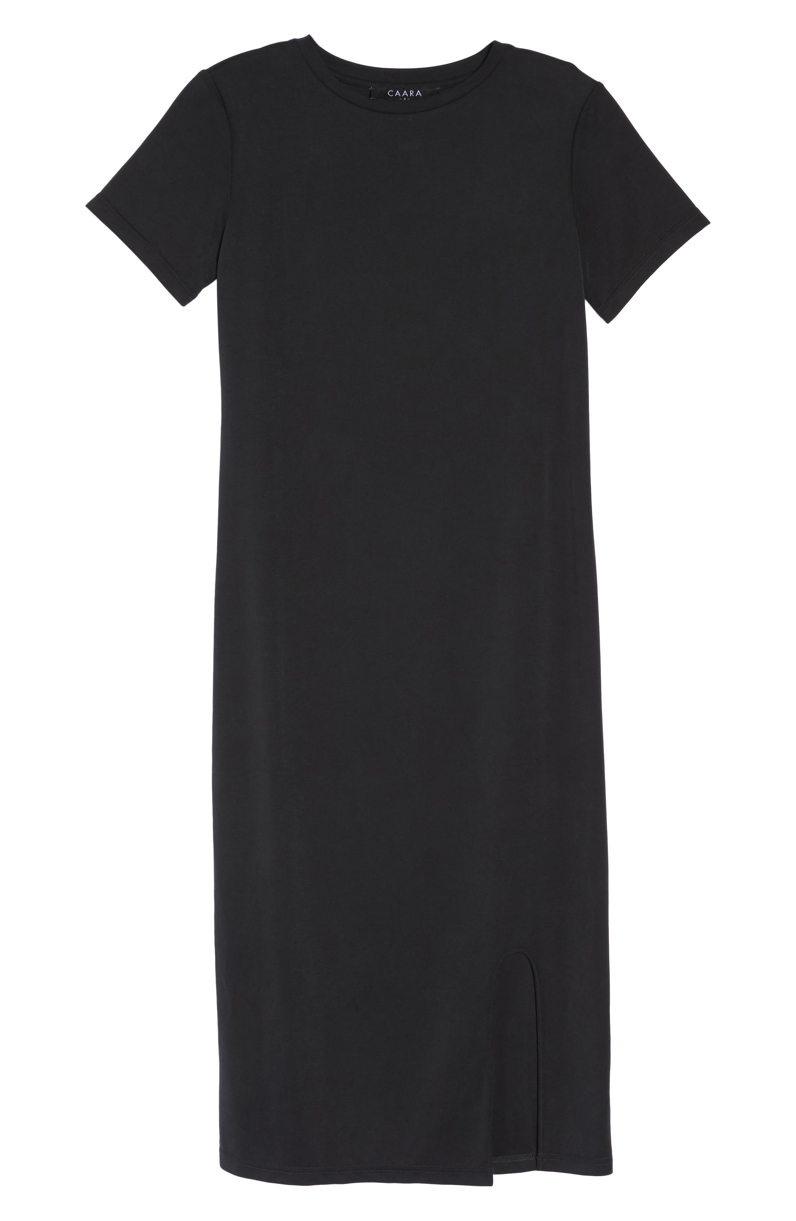 Jersey Midi Dress,                             Alternate thumbnail 7, color,                             001