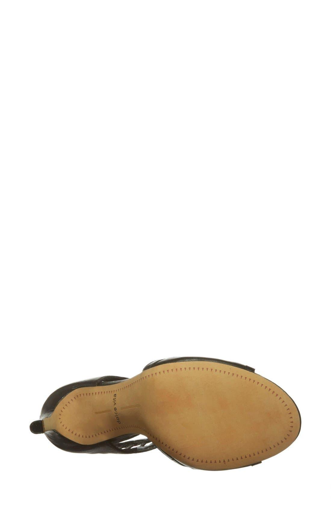 'Henlie' Open Toe Sandal,                             Alternate thumbnail 2, color,                             001