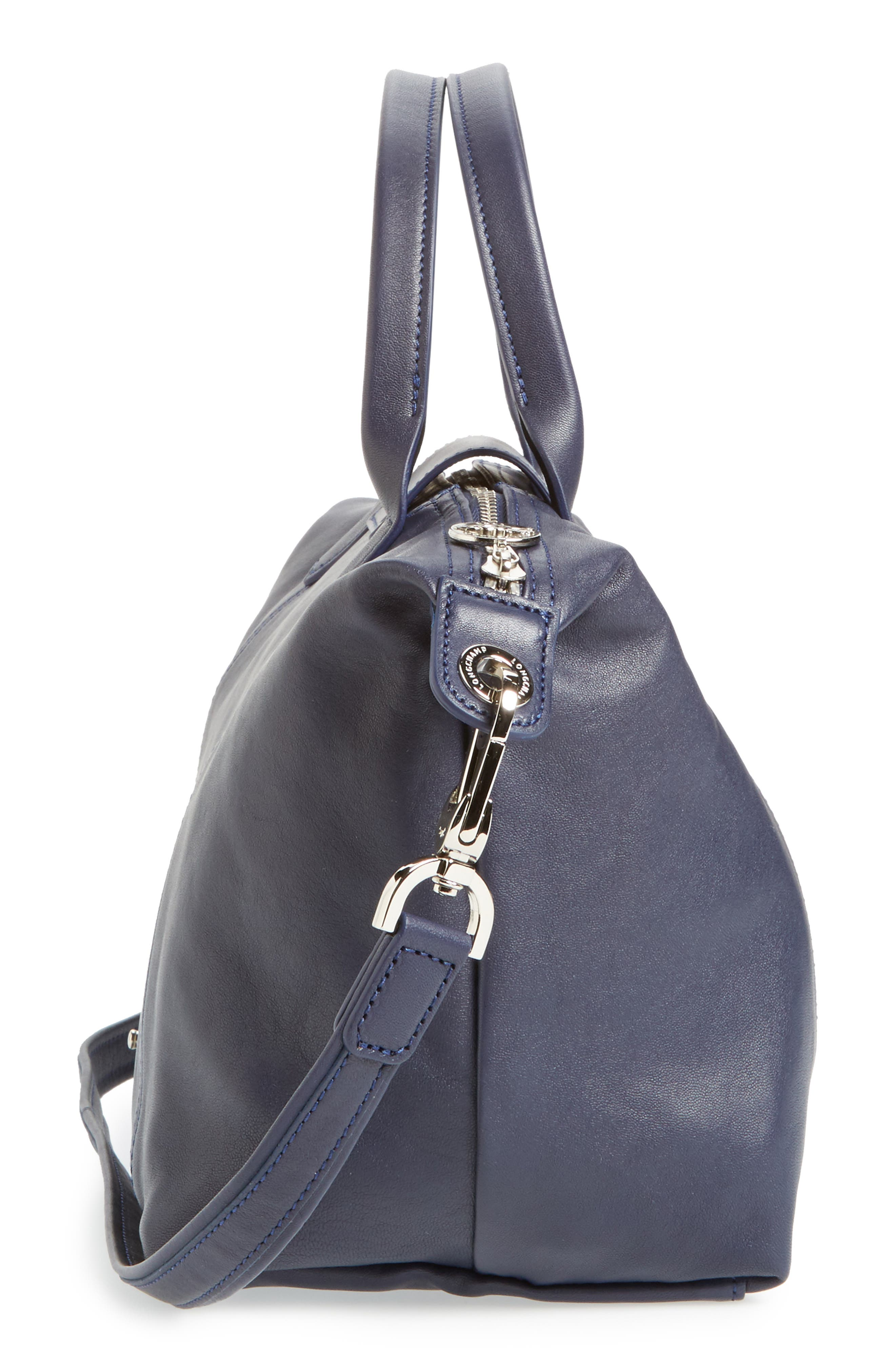 Small 'Le Pliage Cuir' Leather Top Handle Tote,                             Alternate thumbnail 75, color,
