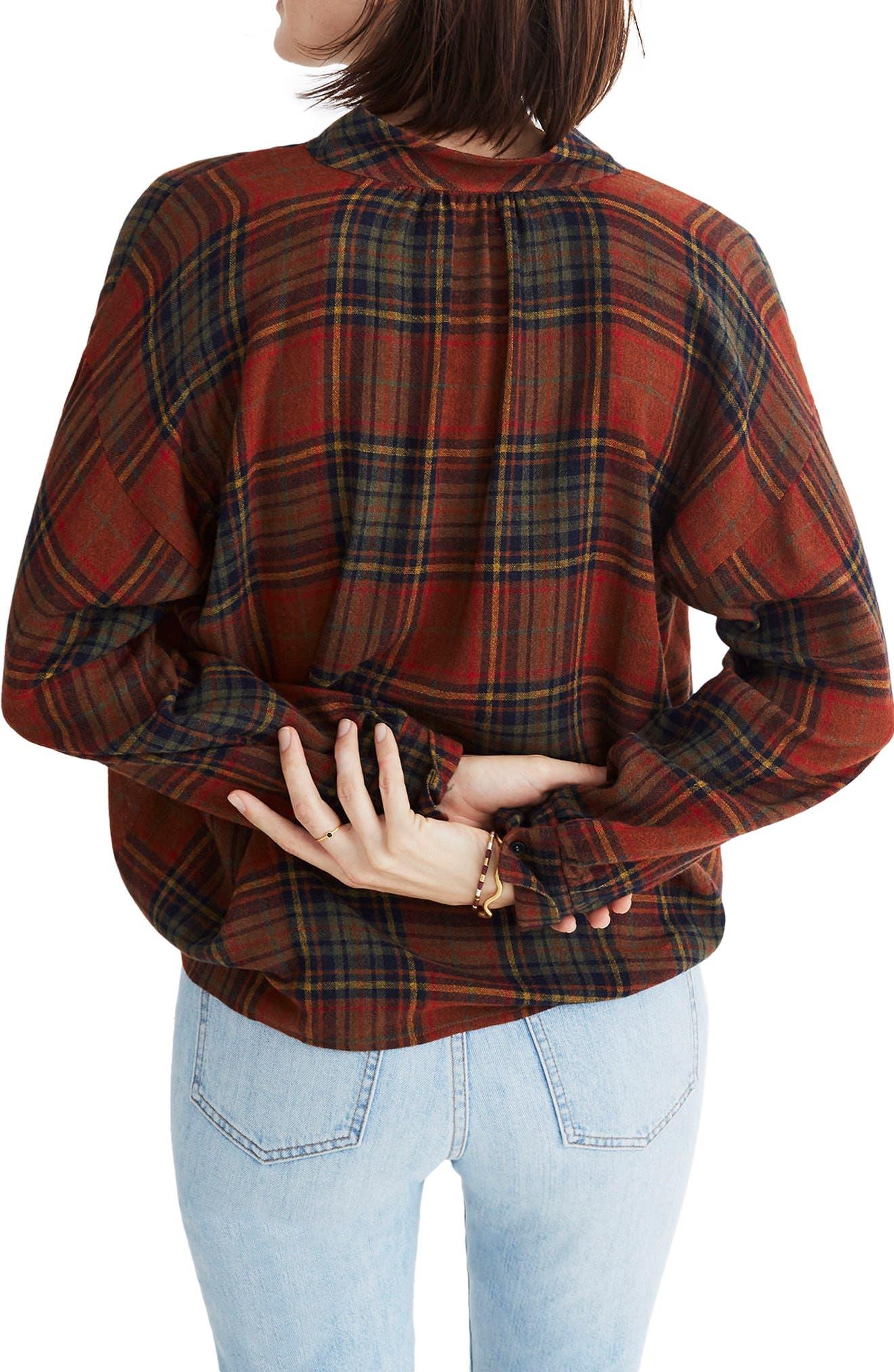 Highroad Plaid Popover Shirt,                             Alternate thumbnail 2, color,                             800