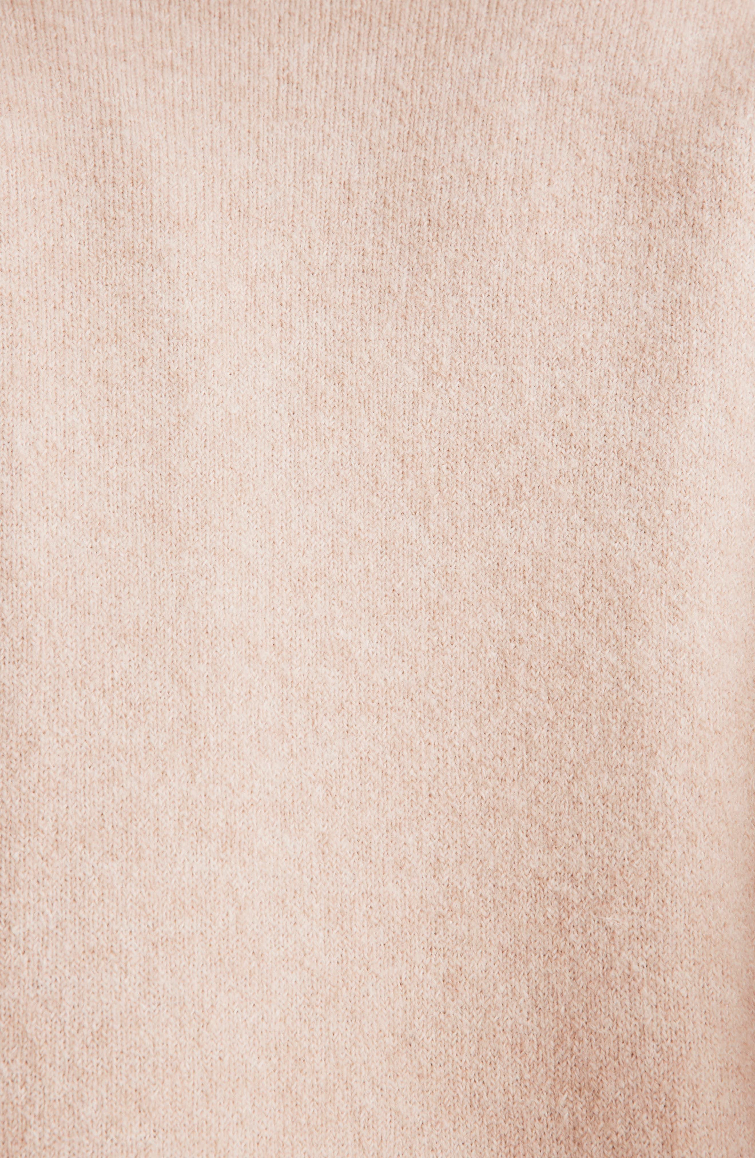 Kent Colorblock Cardigan Sweater,                             Alternate thumbnail 4, color,                             HEATHER BEIGE
