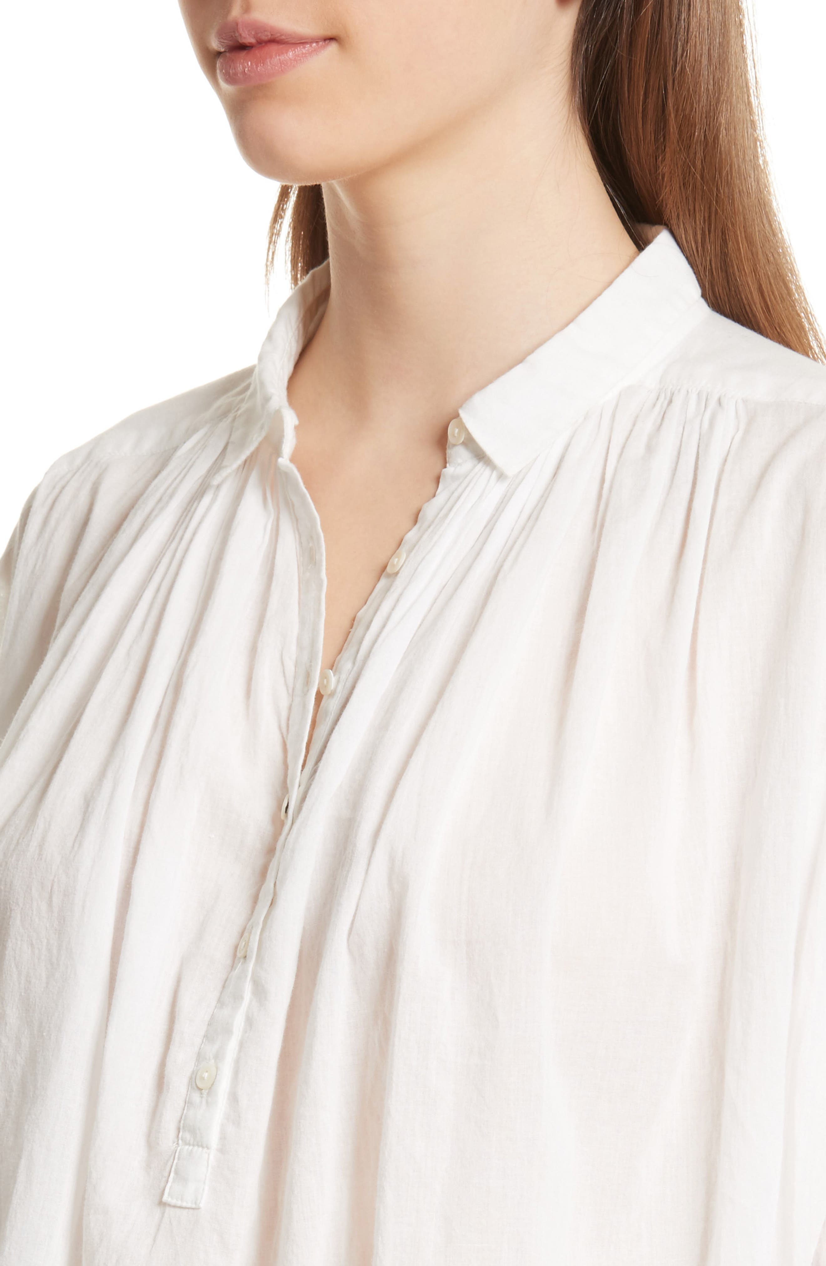 Miles Gathered Yoke Blouse,                             Alternate thumbnail 4, color,                             902