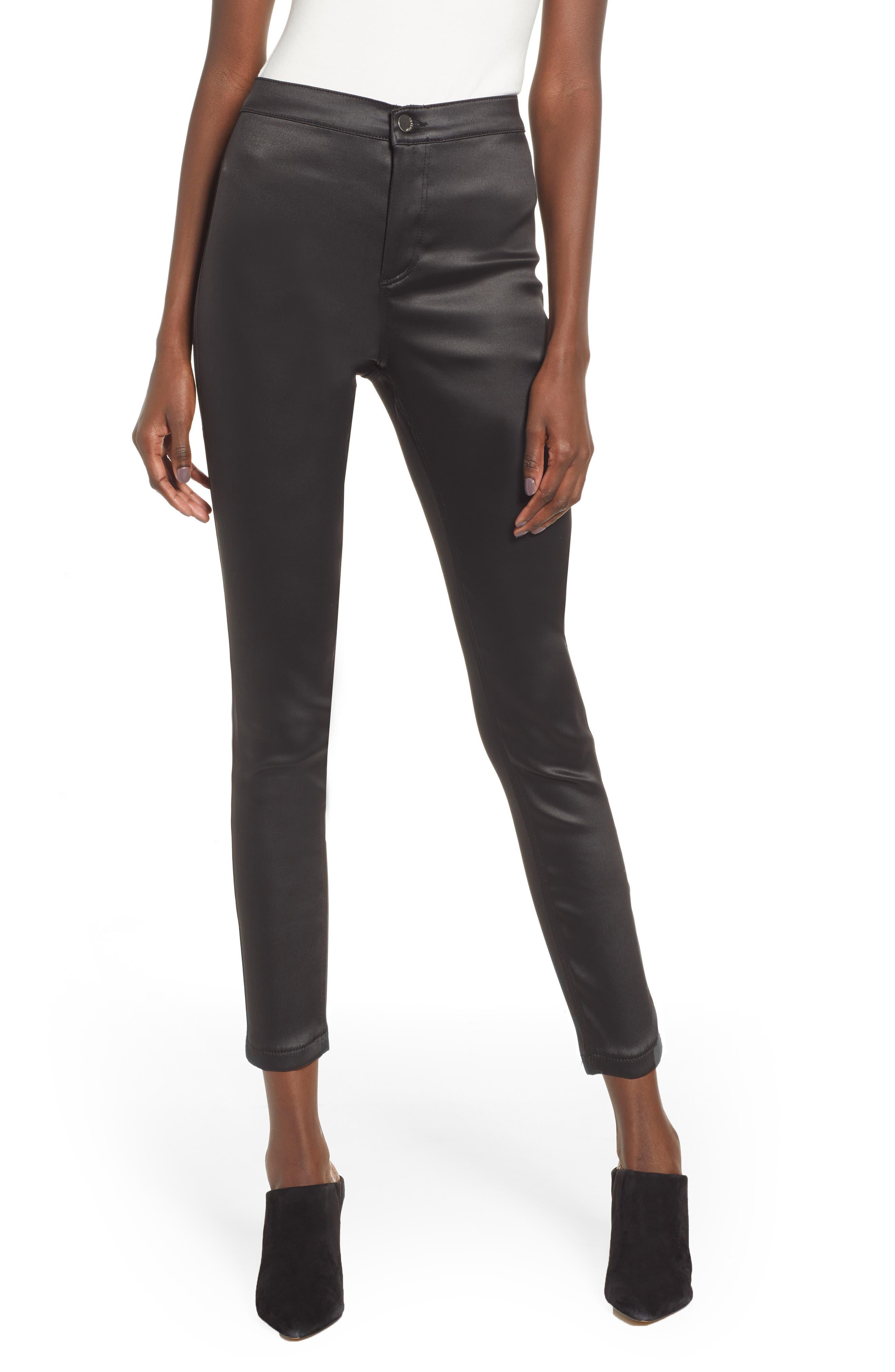 Joni Skinny Pants,                         Main,                         color, BLACK