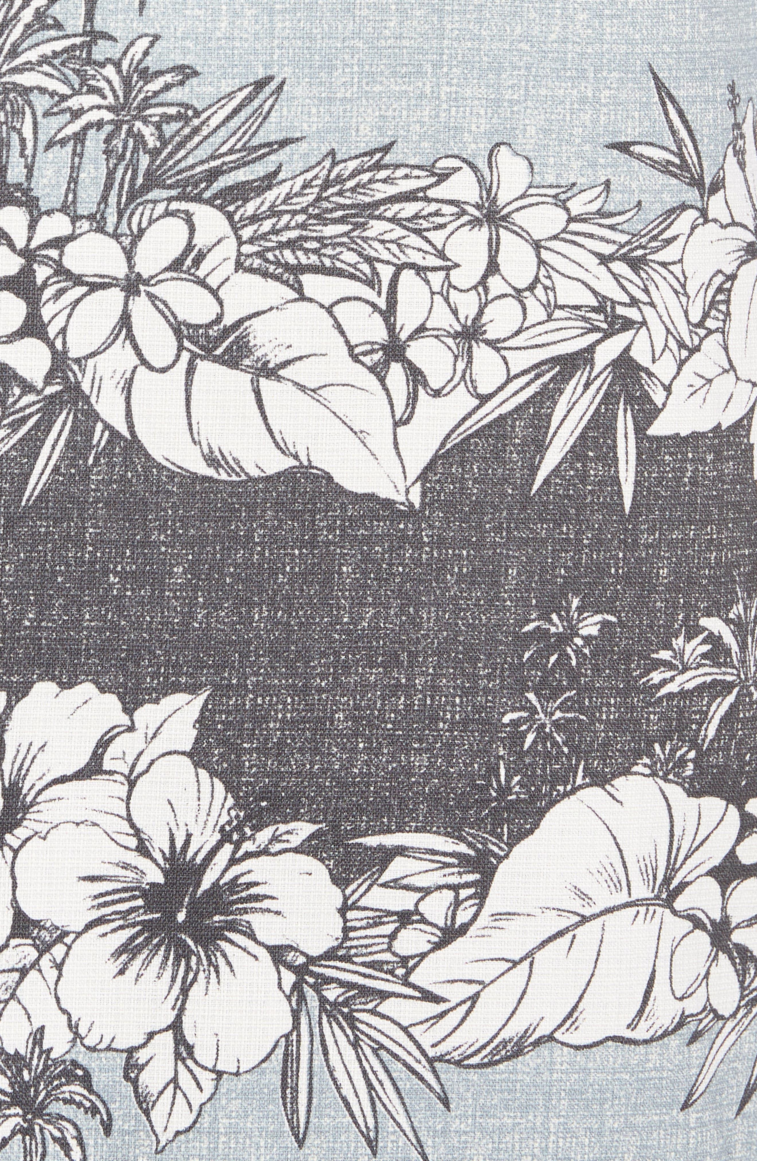 Sky Vines Silk Blend Camp Shirt,                             Alternate thumbnail 5, color,                             050