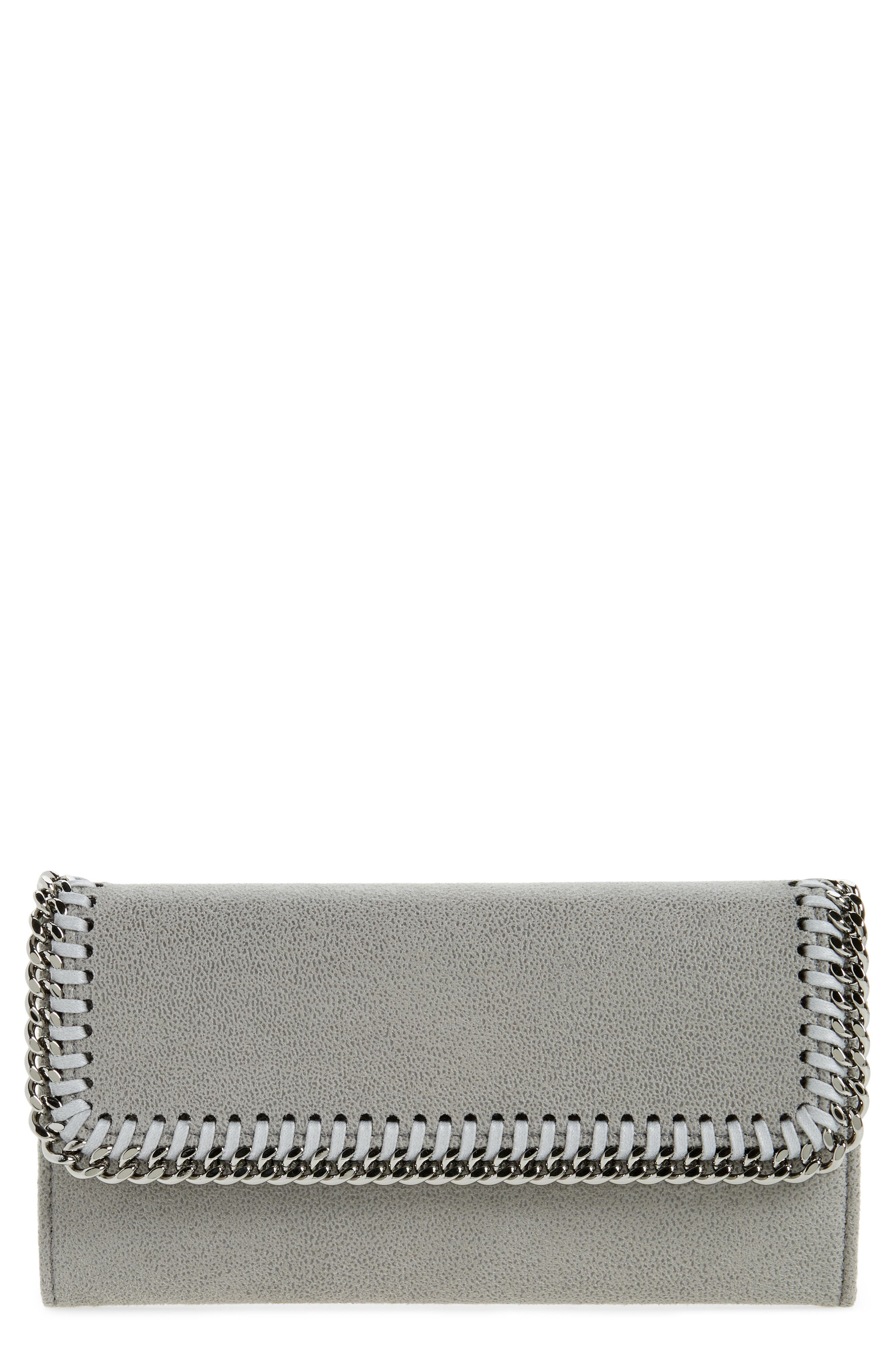 'Falabella - Rainbow POP' Faux Leather Continental Wallet,                         Main,                         color, 053