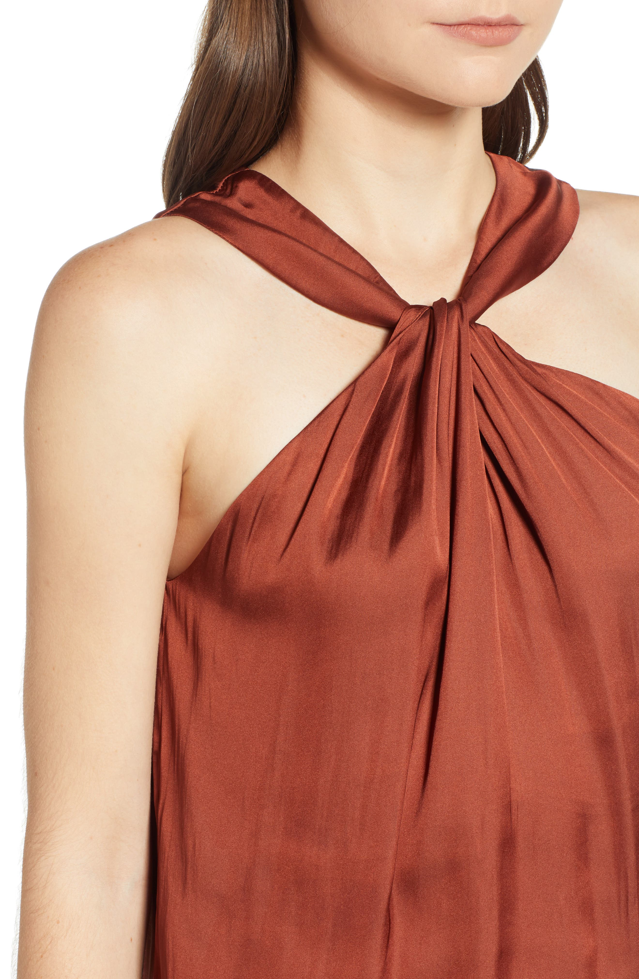 Twist Front Top,                             Alternate thumbnail 4, color,                             RED OCHRE