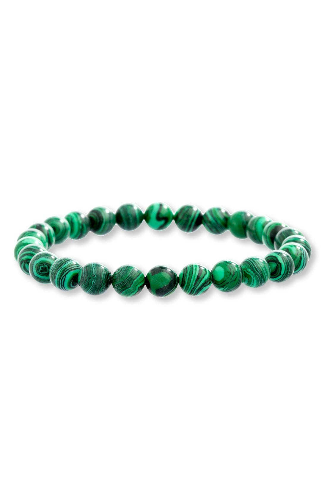 Malachite Bead Bracelet,                             Main thumbnail 1, color,                             300