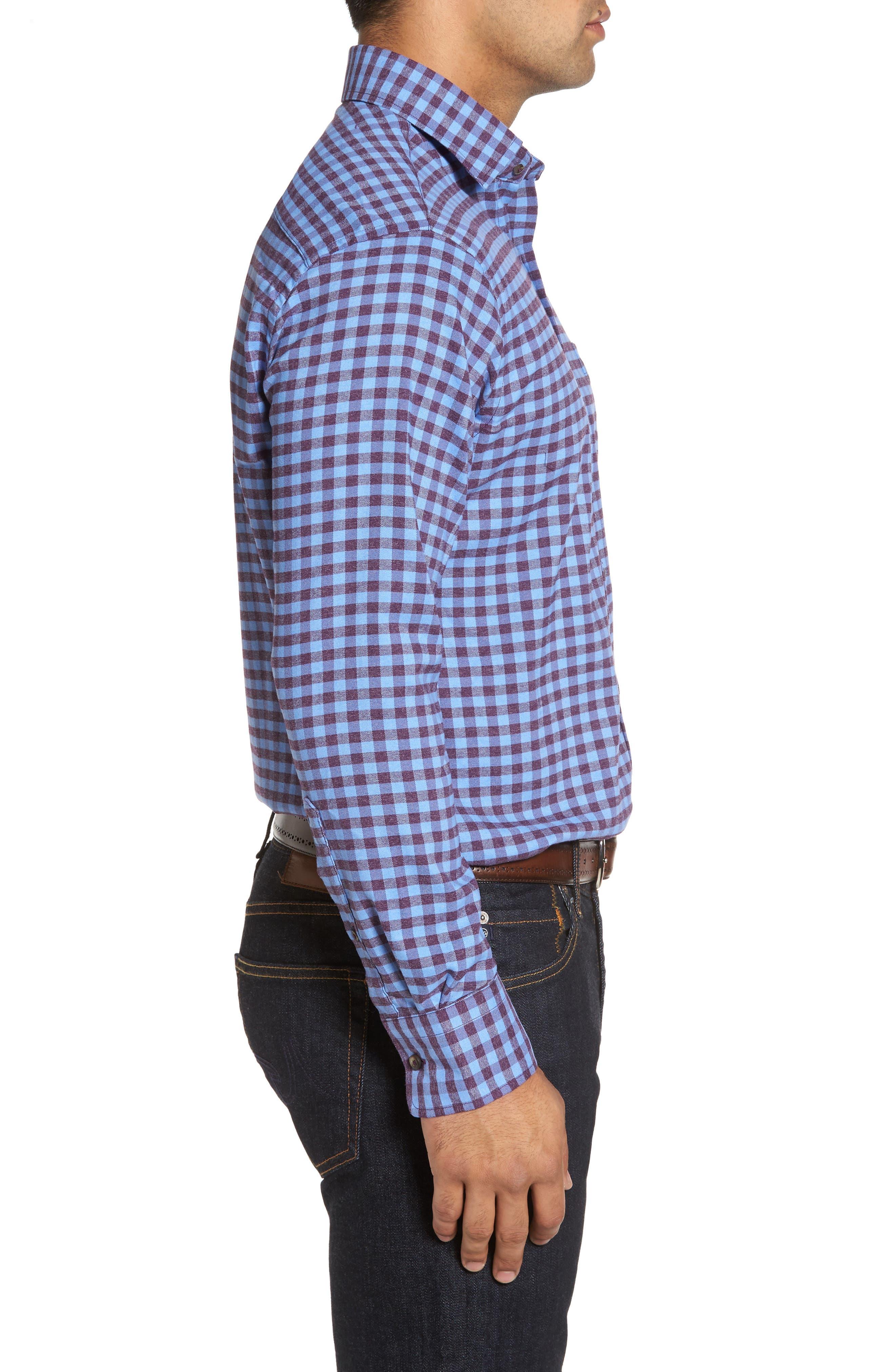 Vedder Gingham Regular Fit Performance Sport Shirt,                             Alternate thumbnail 9, color,