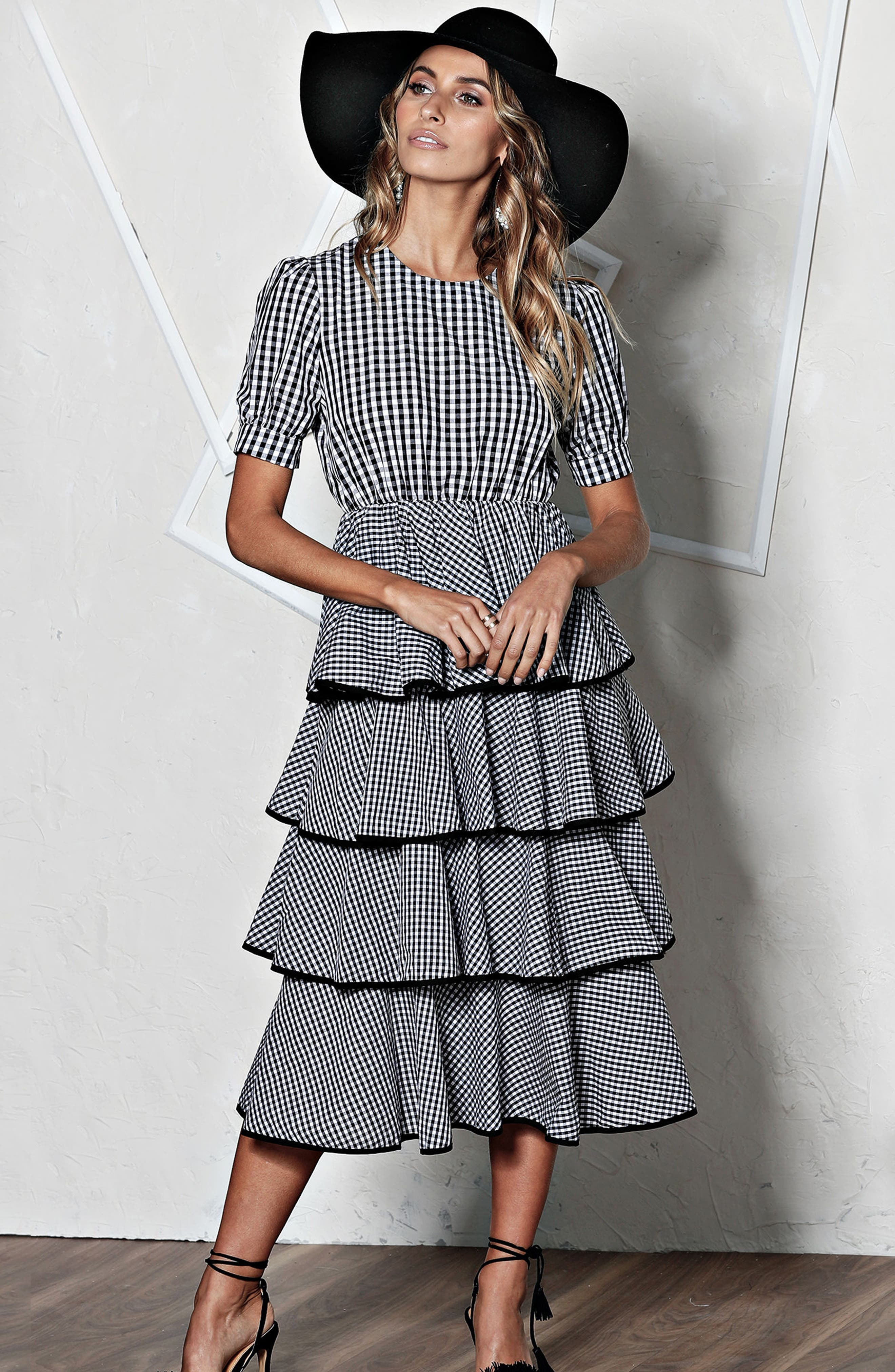 Beauty Buzz Midi Dress,                             Alternate thumbnail 8, color,                             008