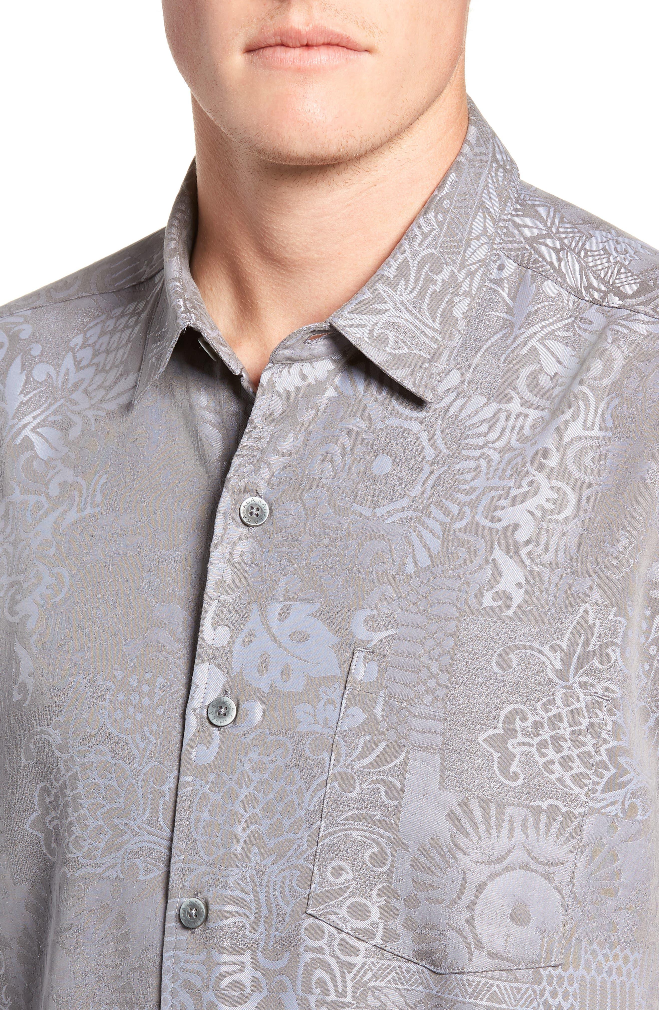 Apana Classic Fit Jacquard Sport Shirt,                             Alternate thumbnail 2, color,                             CHARCOAL