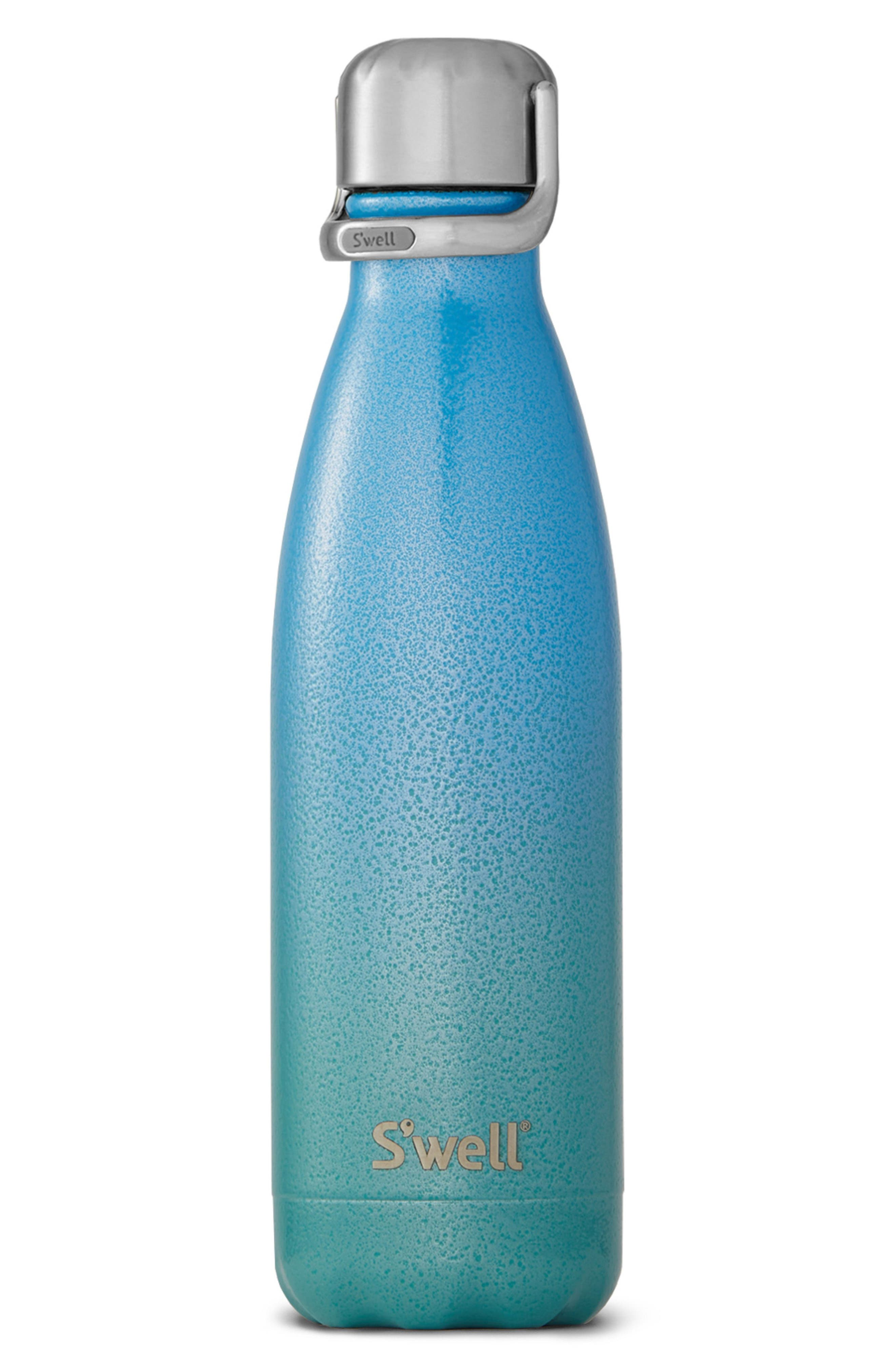 Clio Stainless Steel Water Bottle with Sport Cap,                             Main thumbnail 1, color,                             CLIO