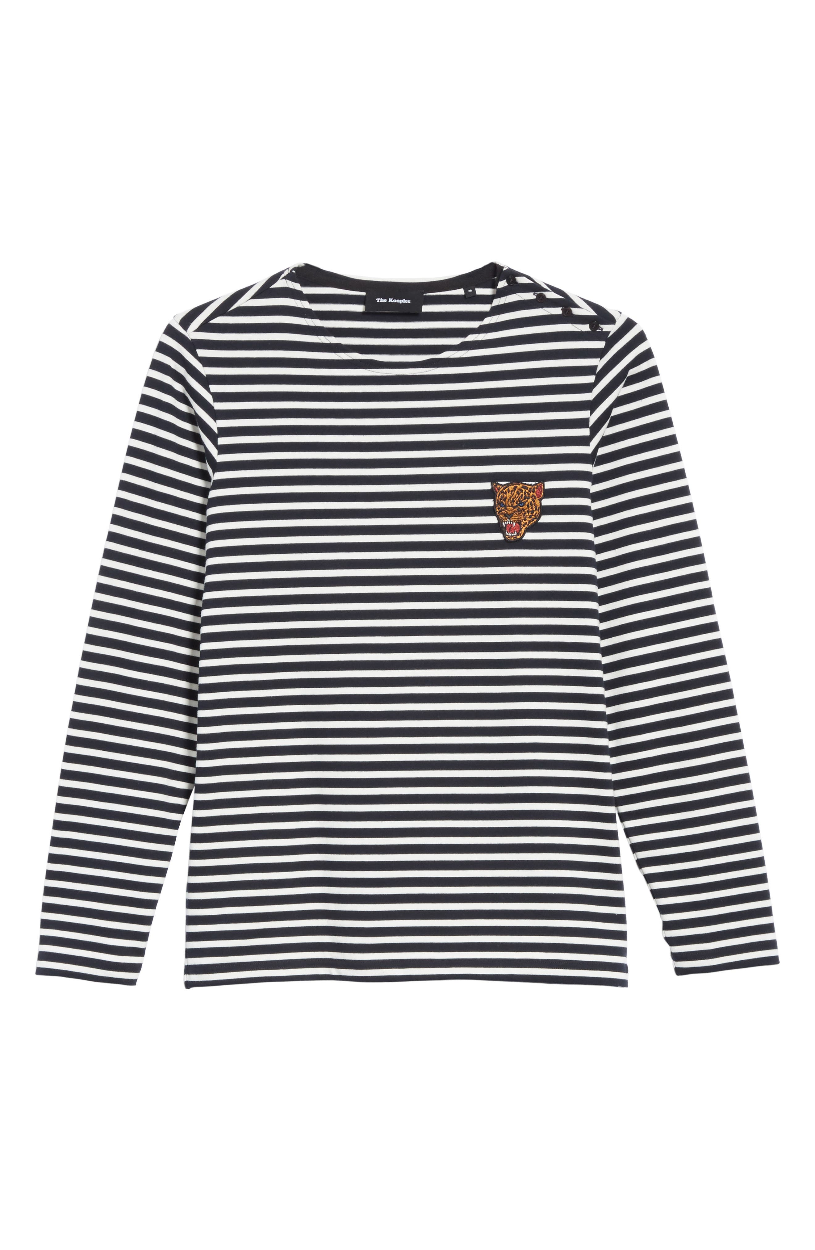 Stripe Long Sleeve T-Shirt,                             Alternate thumbnail 6, color,