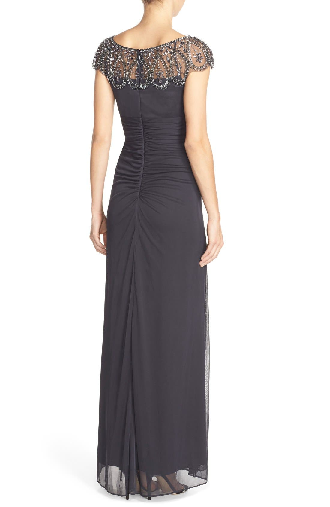 Ruched Jersey Gown,                             Alternate thumbnail 2, color,                             020