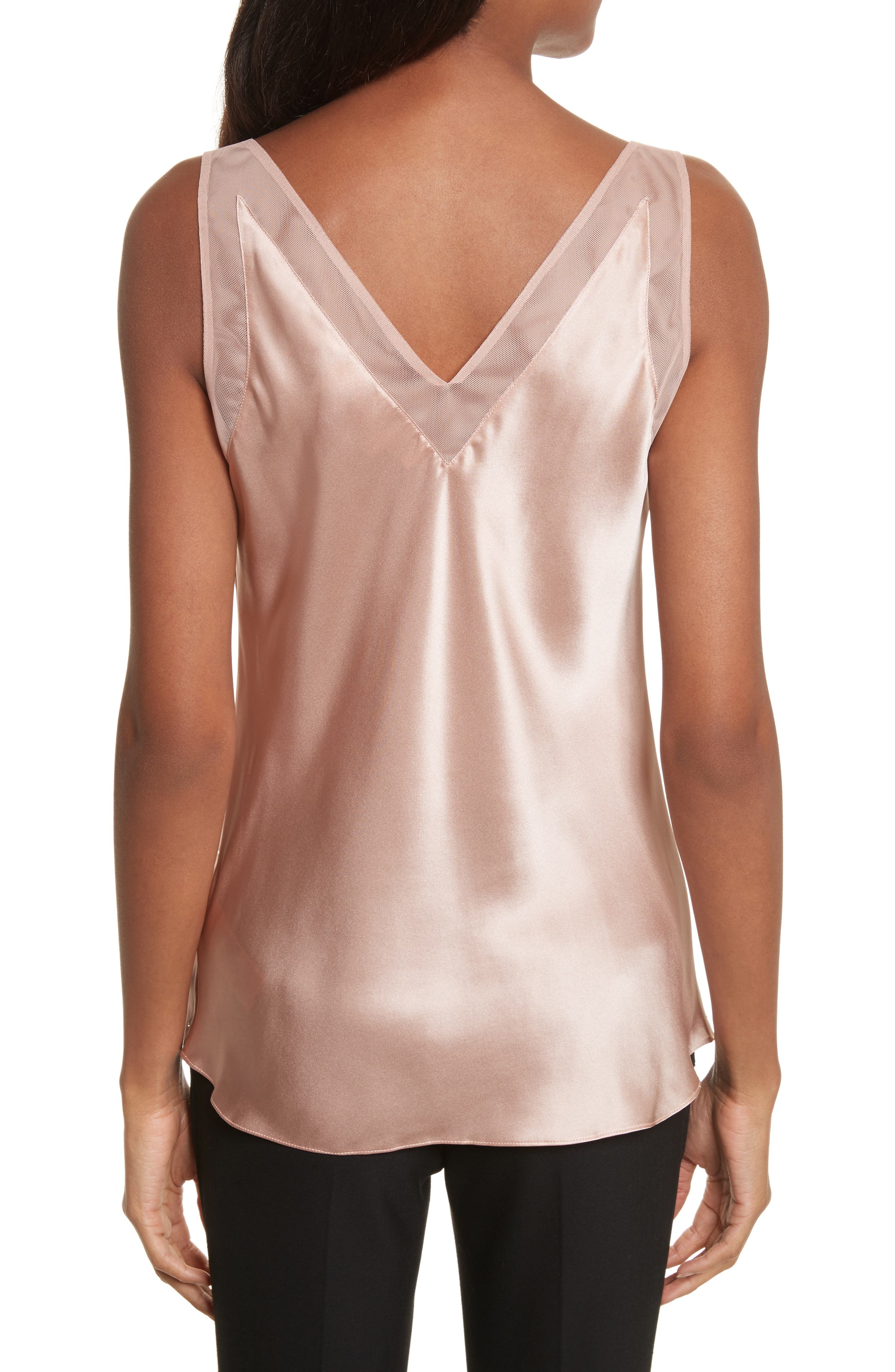 V-Neck Trim Sparkle Camisole,                             Alternate thumbnail 2, color,