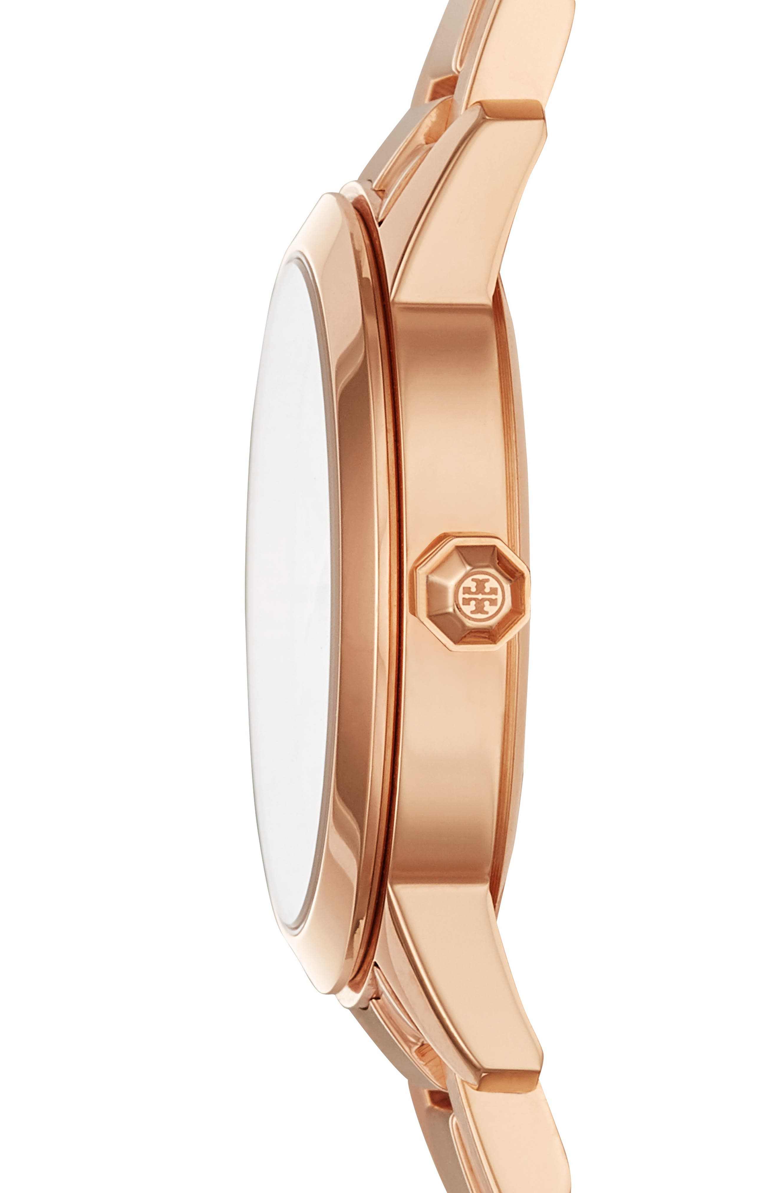 TORY BURCH,                             Collins Bracelet Watch, 38mm,                             Alternate thumbnail 2, color,                             ROSE GOLD/ WHITE/ ROSE GOLD
