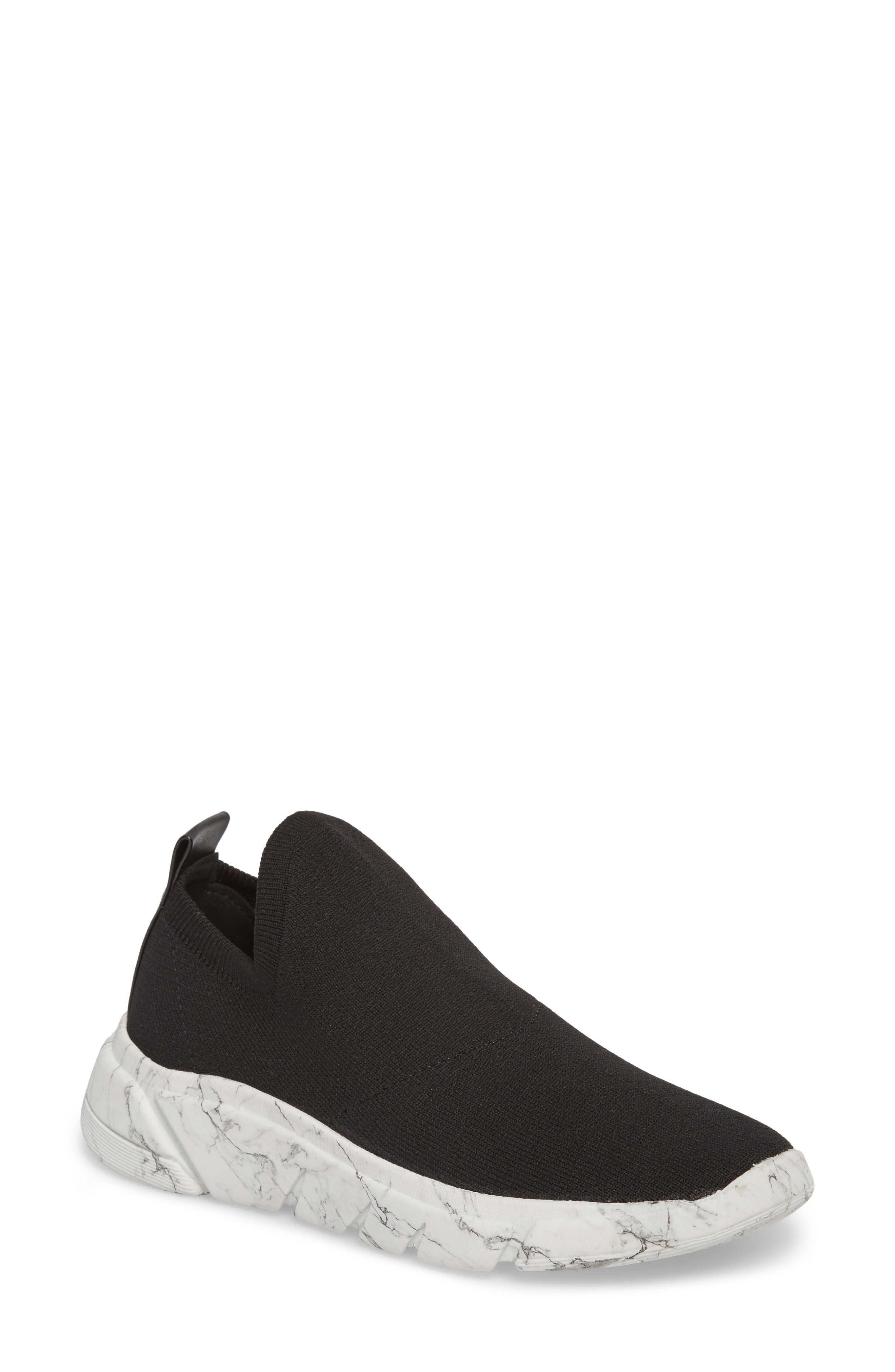 Caleb Knit Sneaker,                         Main,                         color, BLACK