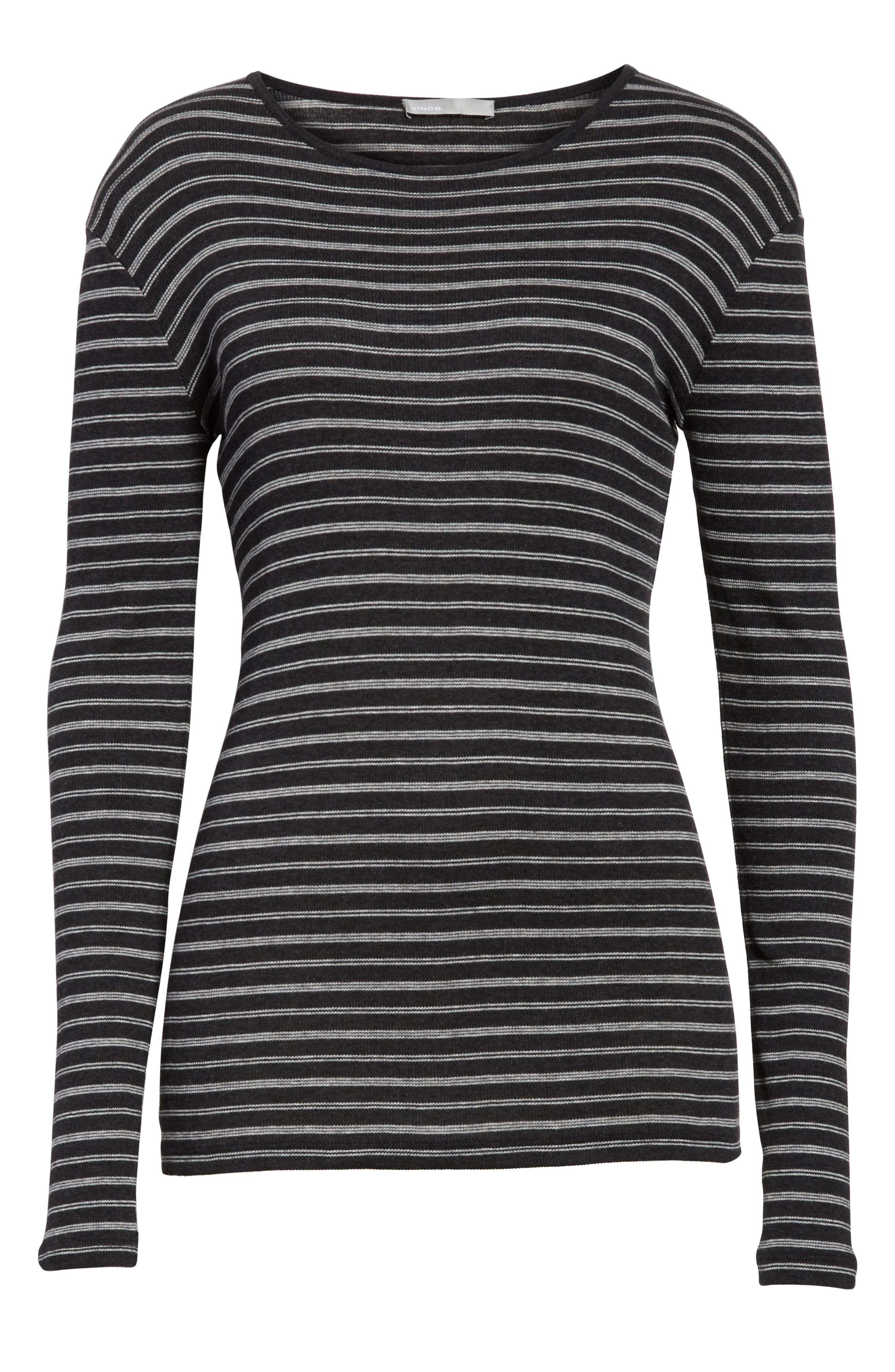 Double Stripe Top,                             Alternate thumbnail 7, color,                             007