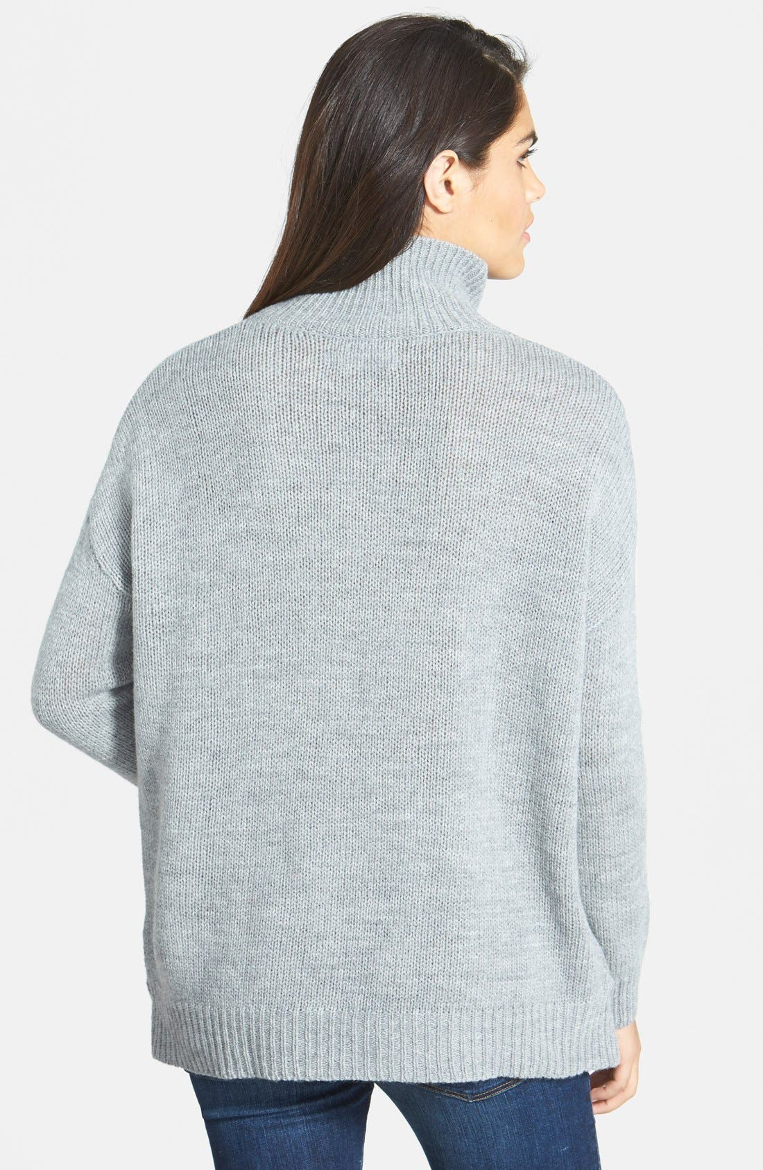 Boyfriend Turtleneck Sweater,                             Alternate thumbnail 2, color,                             020