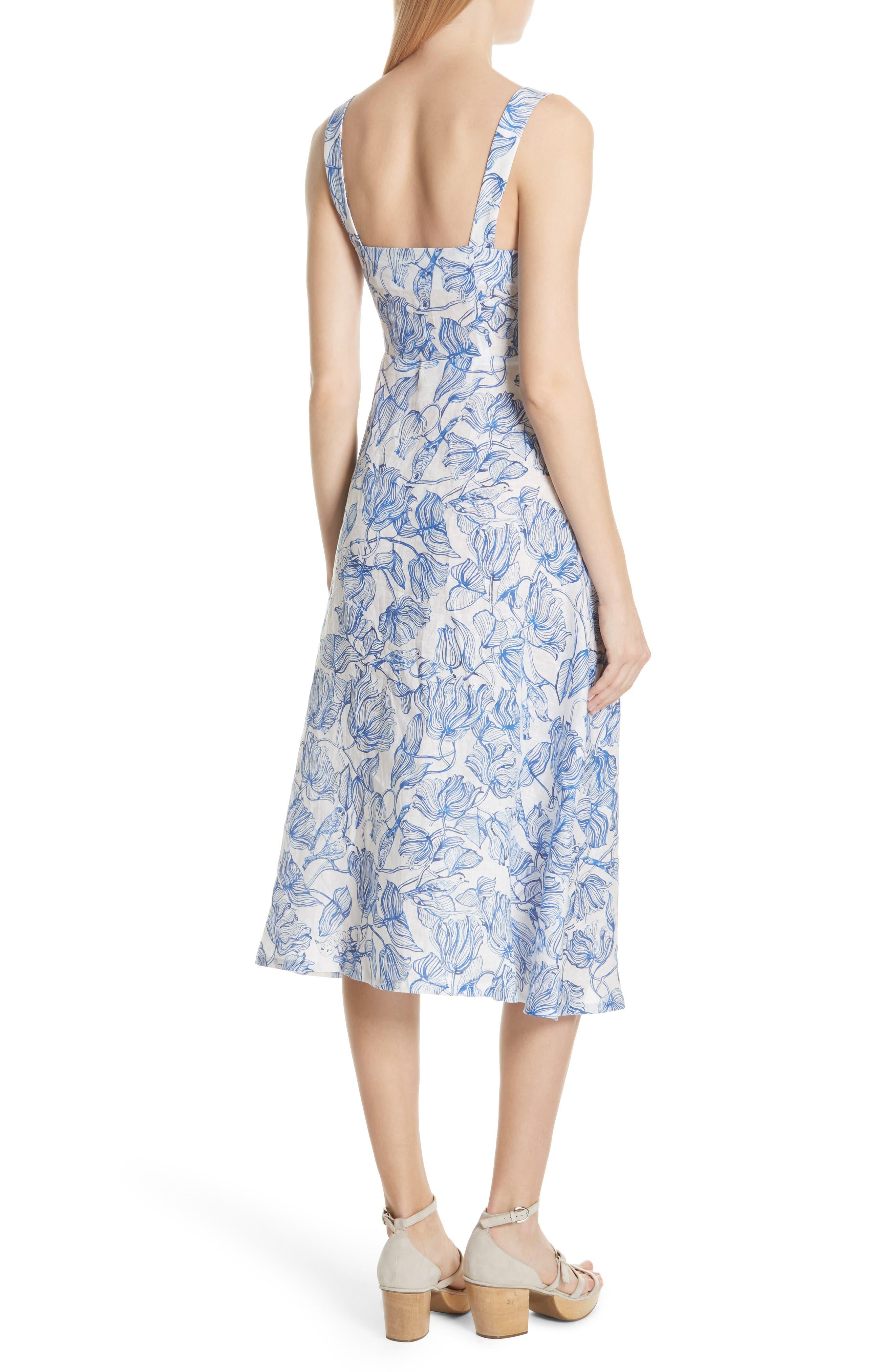 RACHEL COMEY,                             Lido Linen Dress,                             Alternate thumbnail 2, color,                             435